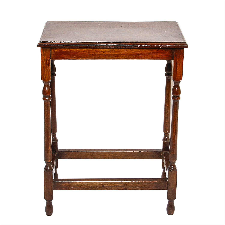 Vintage Sheraton Style Walnut Side Table