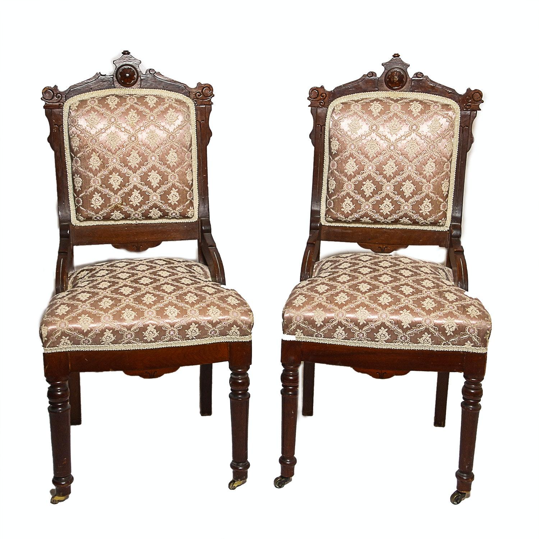 Antique Eastlake Style Chair Pair