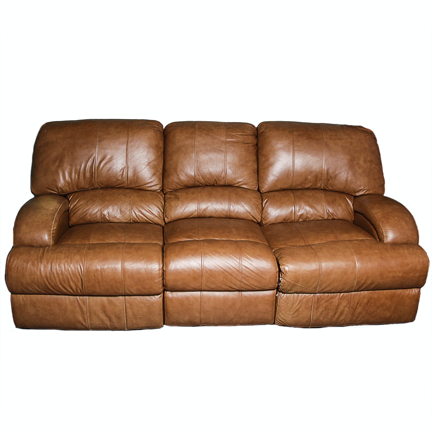 Contemporary Leather Reclining Sofa