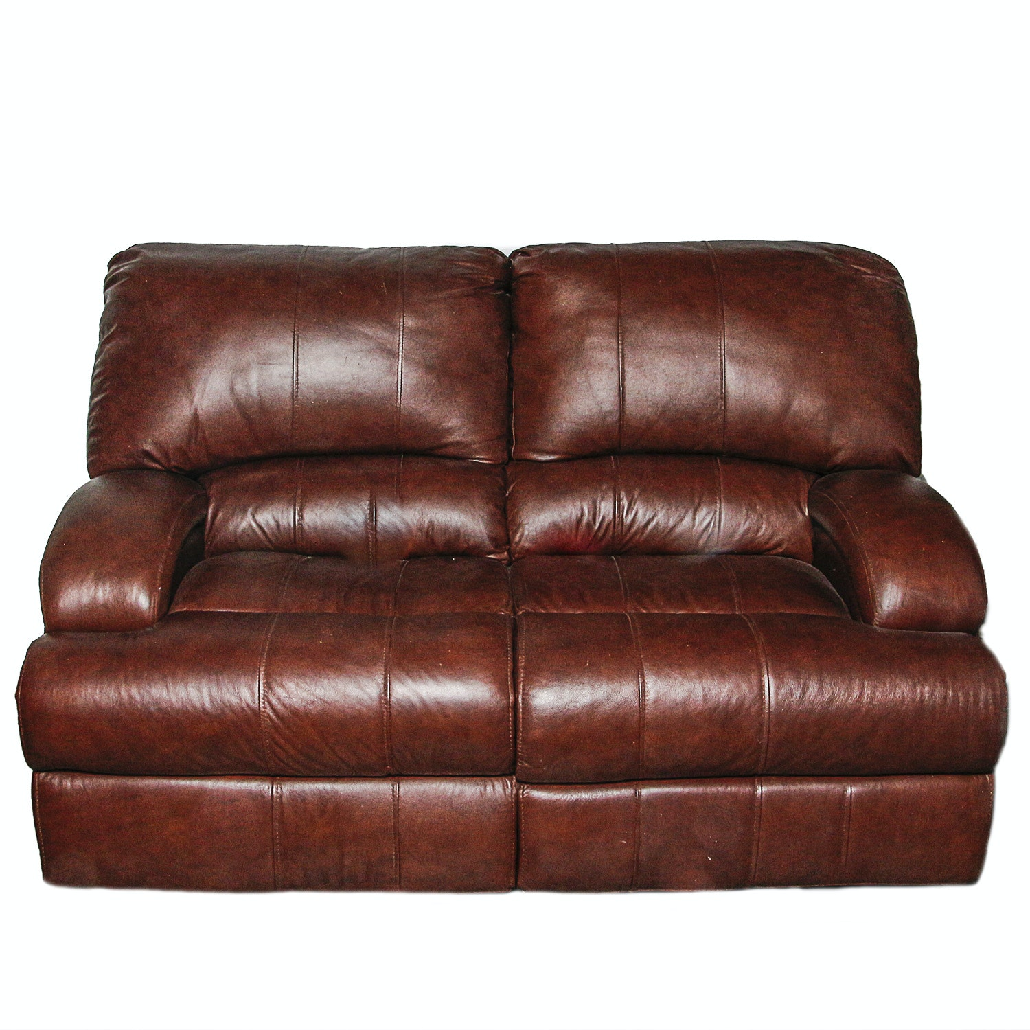 Contemporary Leather Reclining Loveseat