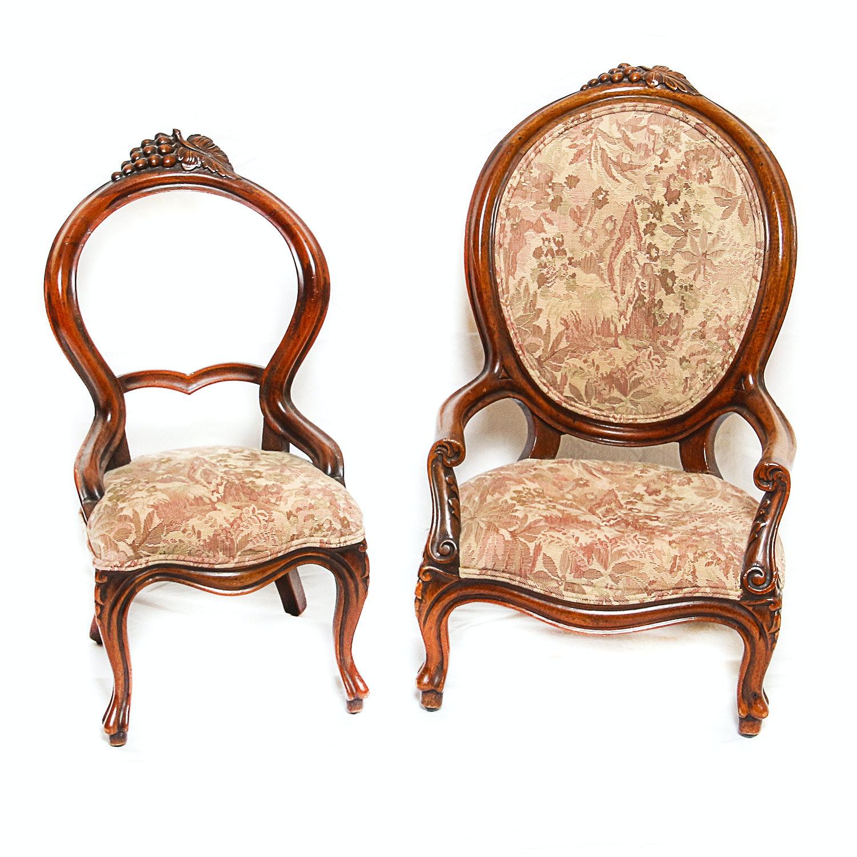 Vintage Victorian Style Accent Children's Chairs