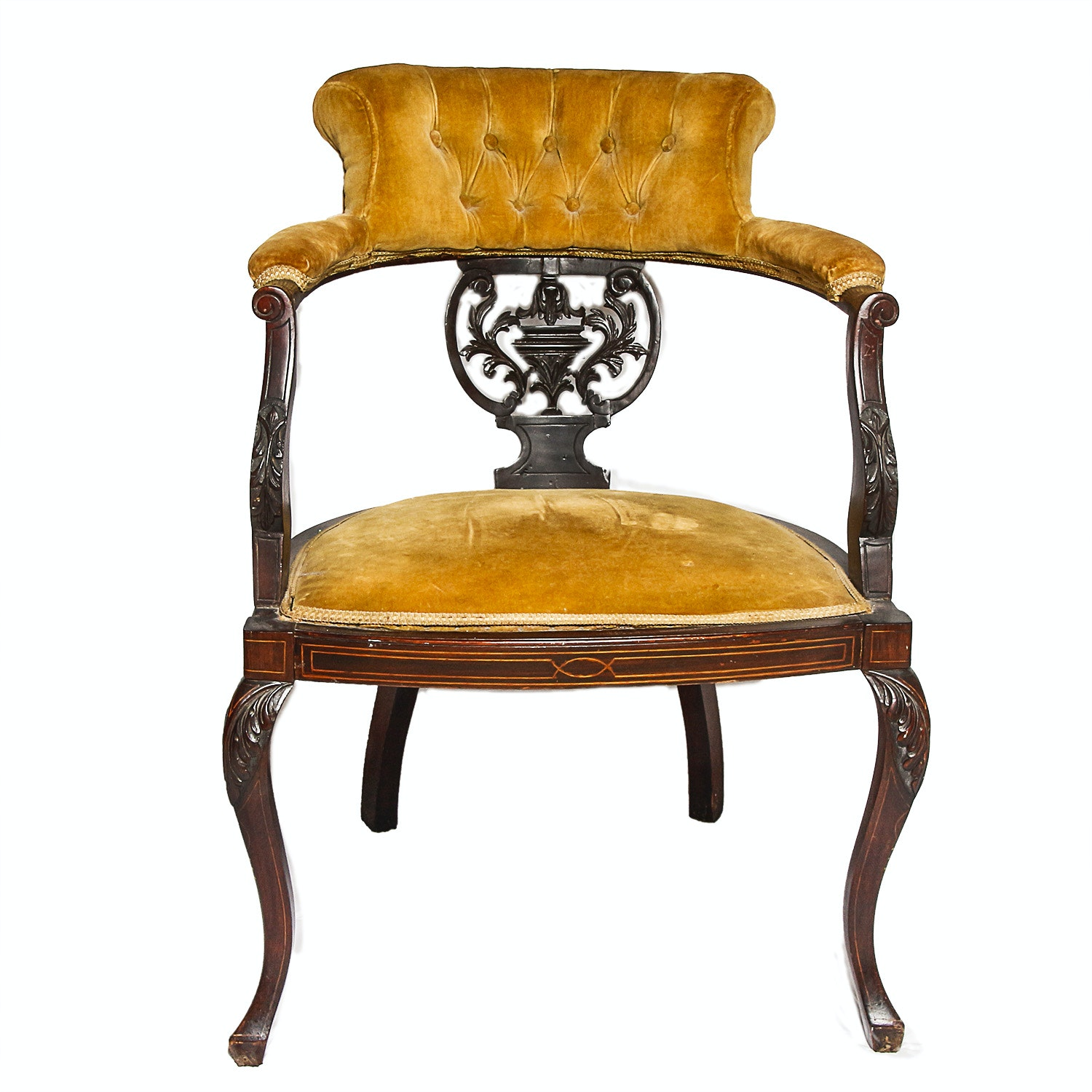 Vintage Adams Style Captain's Chair