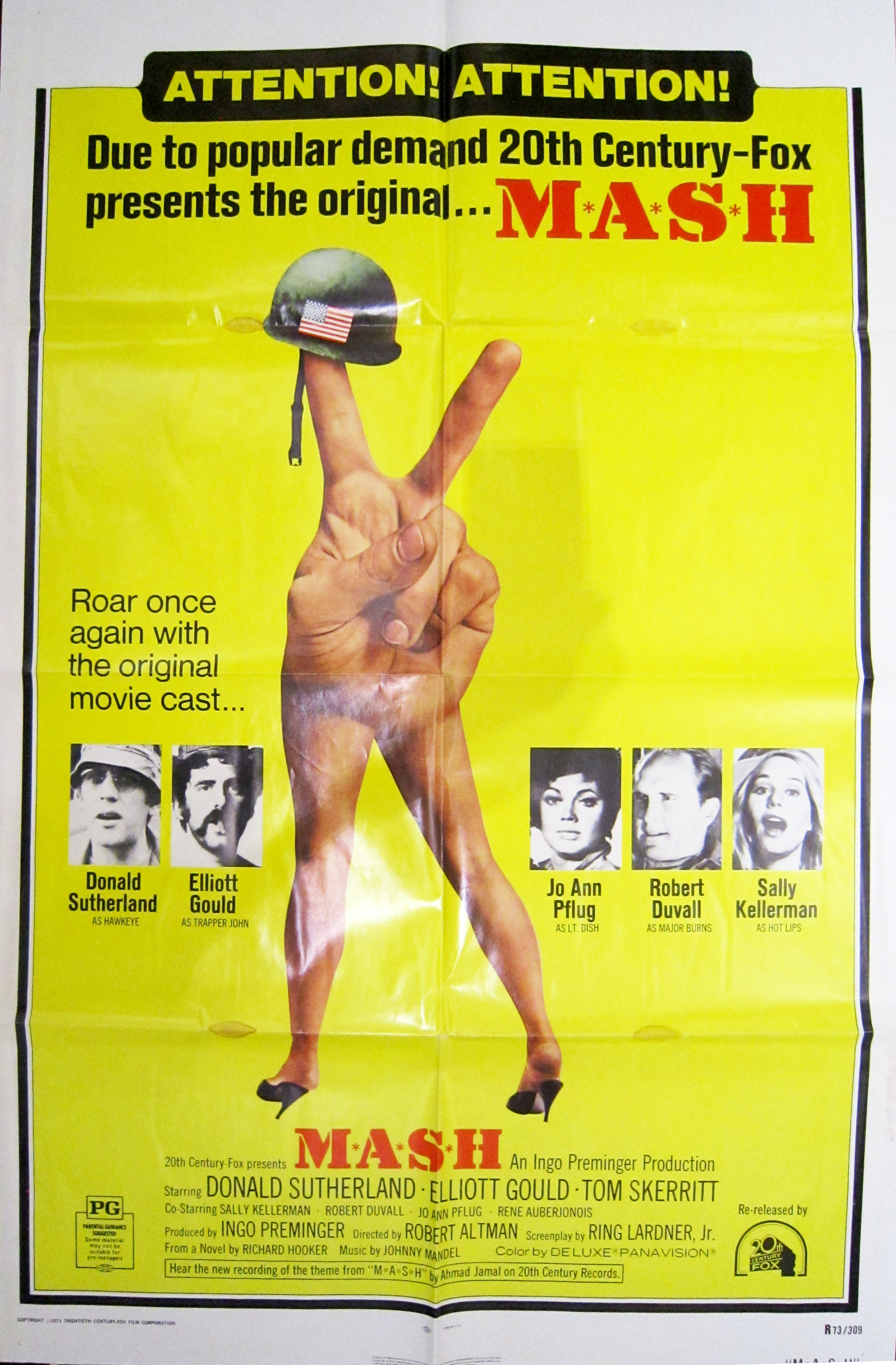 MASH Vintage1973 Movie Poster