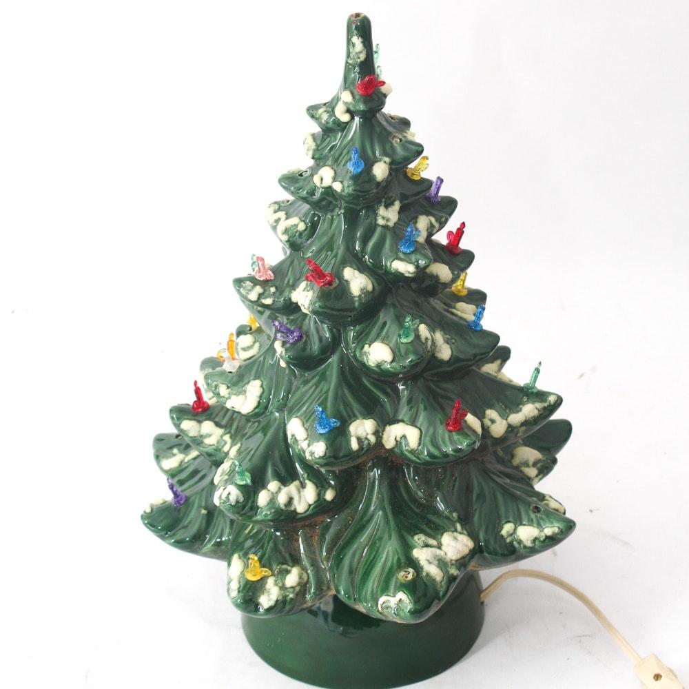 Vintage Ceramic Musical Christmas Tree