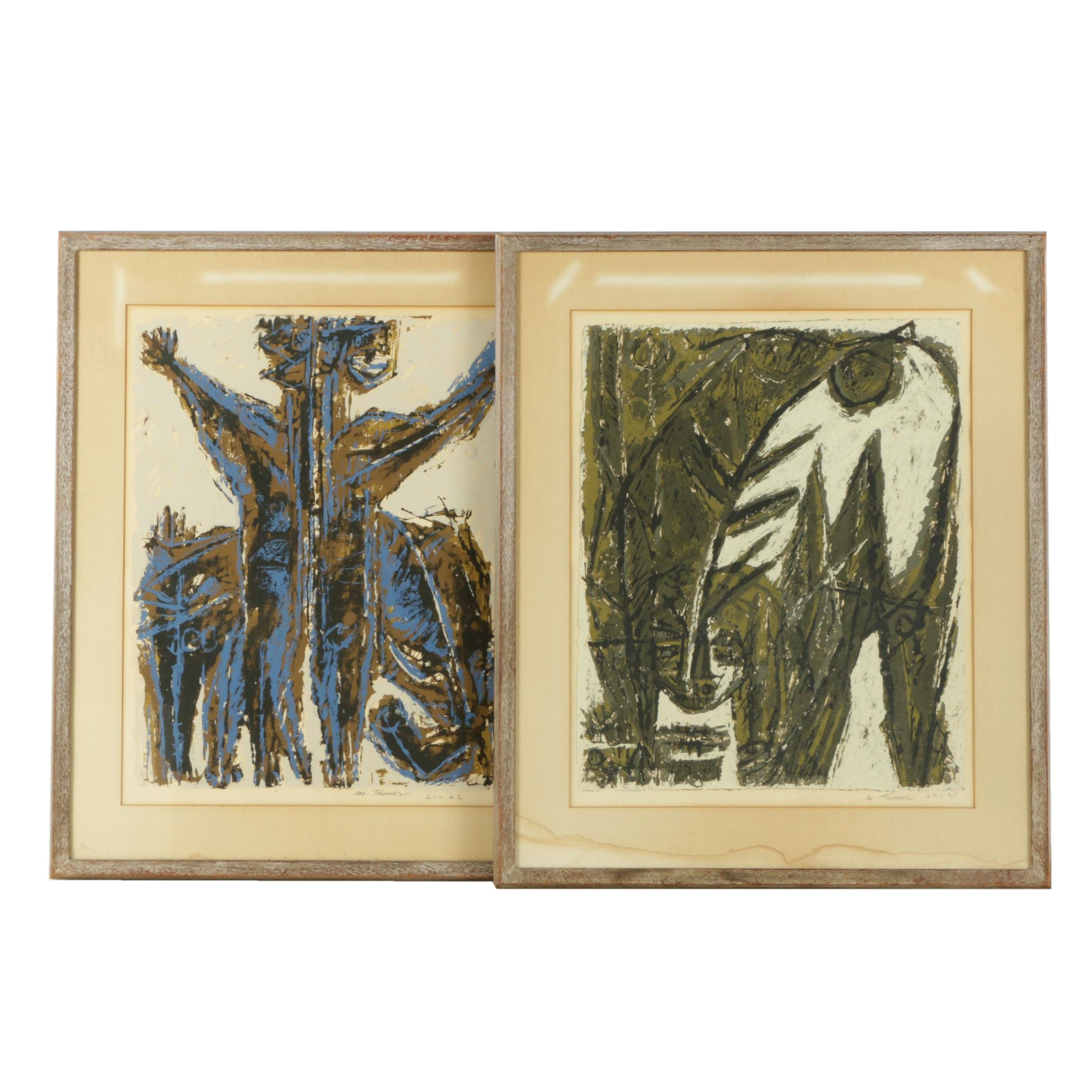 Moshe Tamir Limited Edition Serigraphs of Totem Themes
