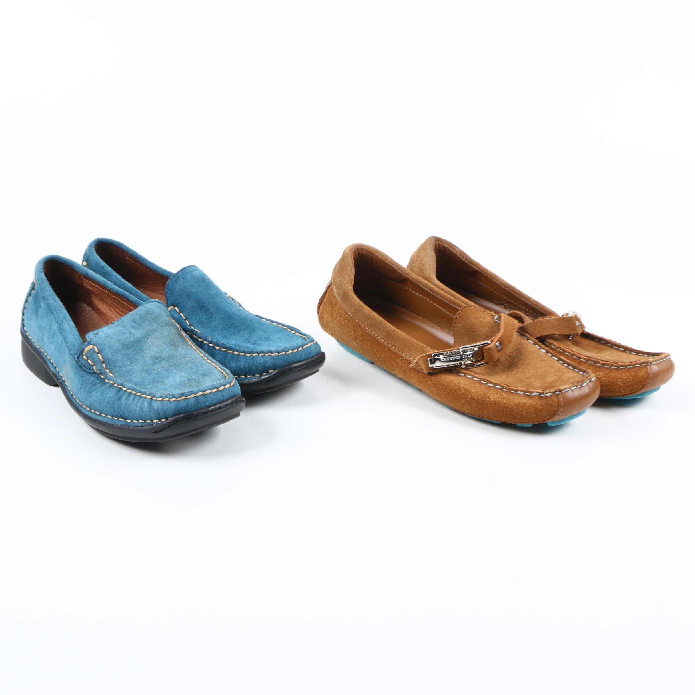 Women's Suede Loafers Including Kenneth Cole and Hush Puppies
