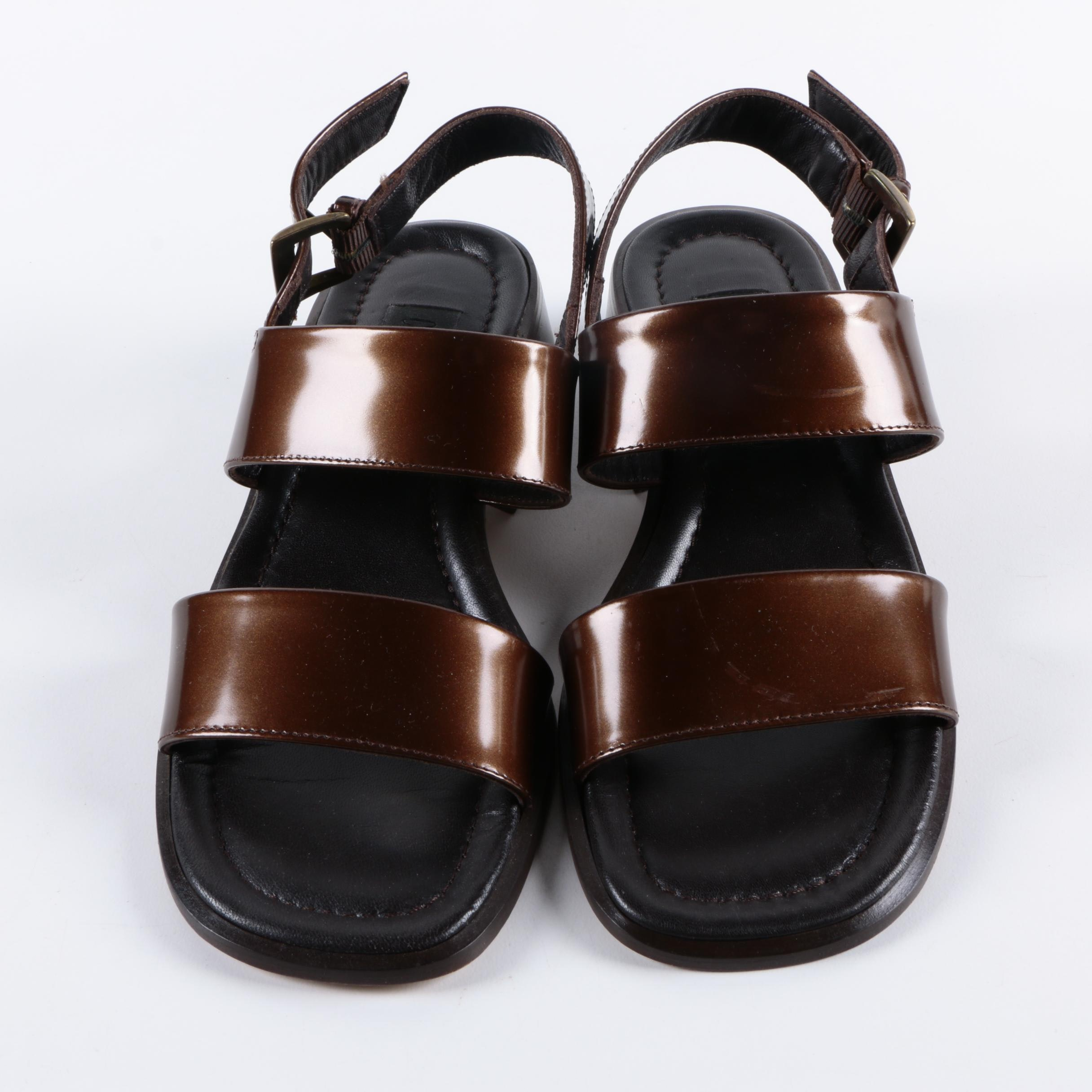 Country Road Marsala Patent Leather Sandals