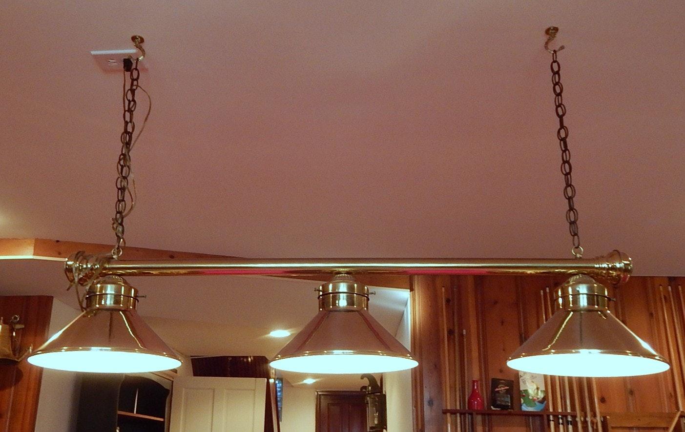 Metal Pool Table Hanging Light