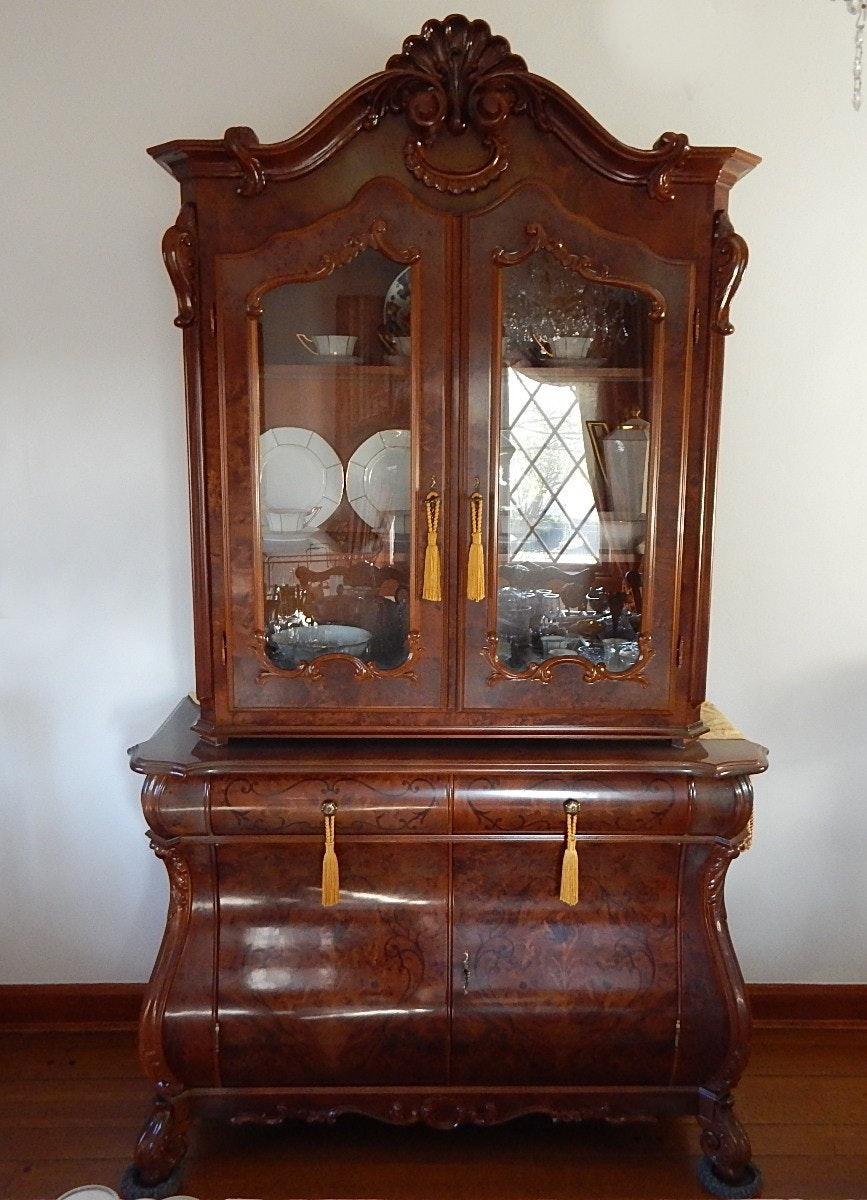 Reproduction Dutch Rococo China Cabinet