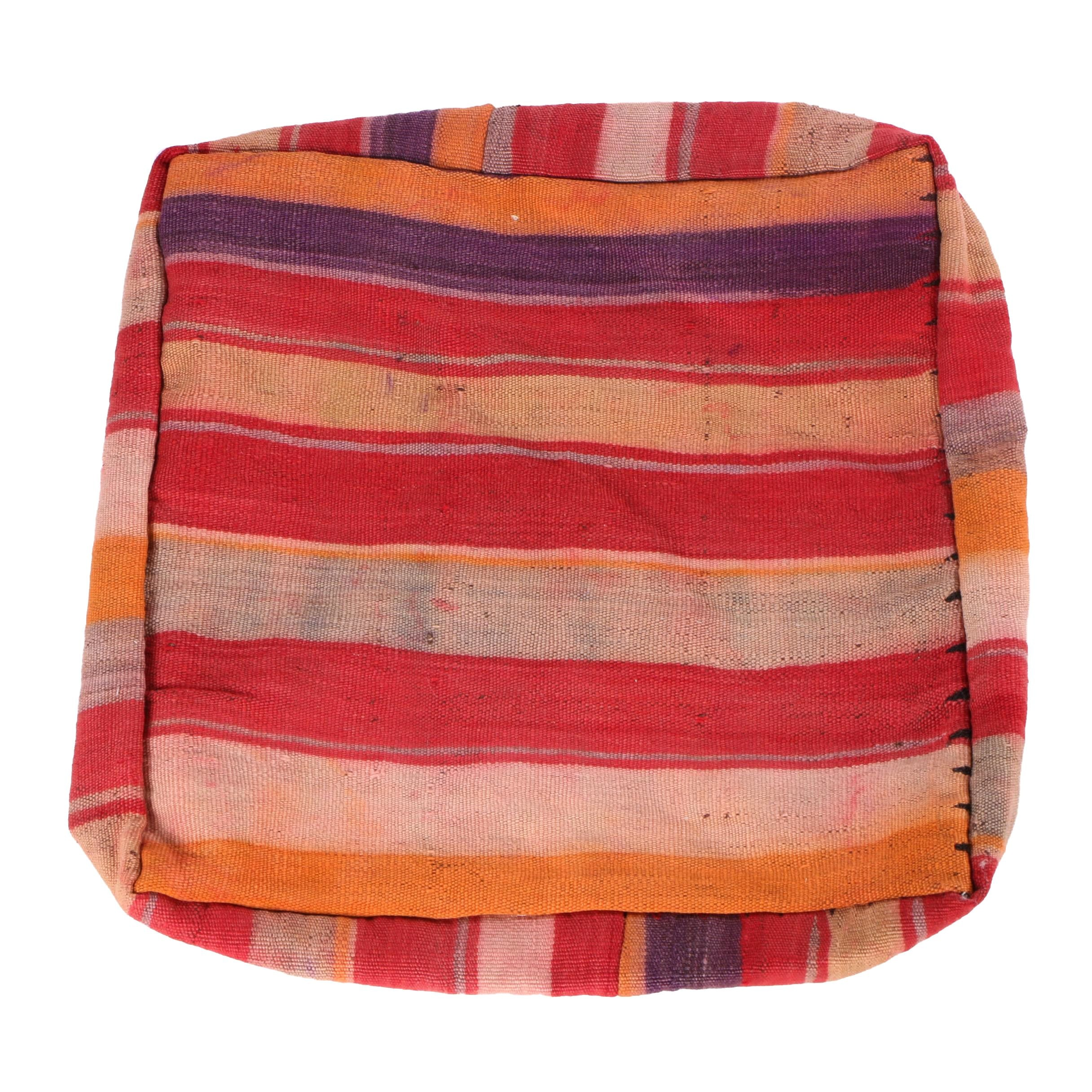 Handwoven Moroccan Beni Mellal Berber Wool Rug Pillow Cover