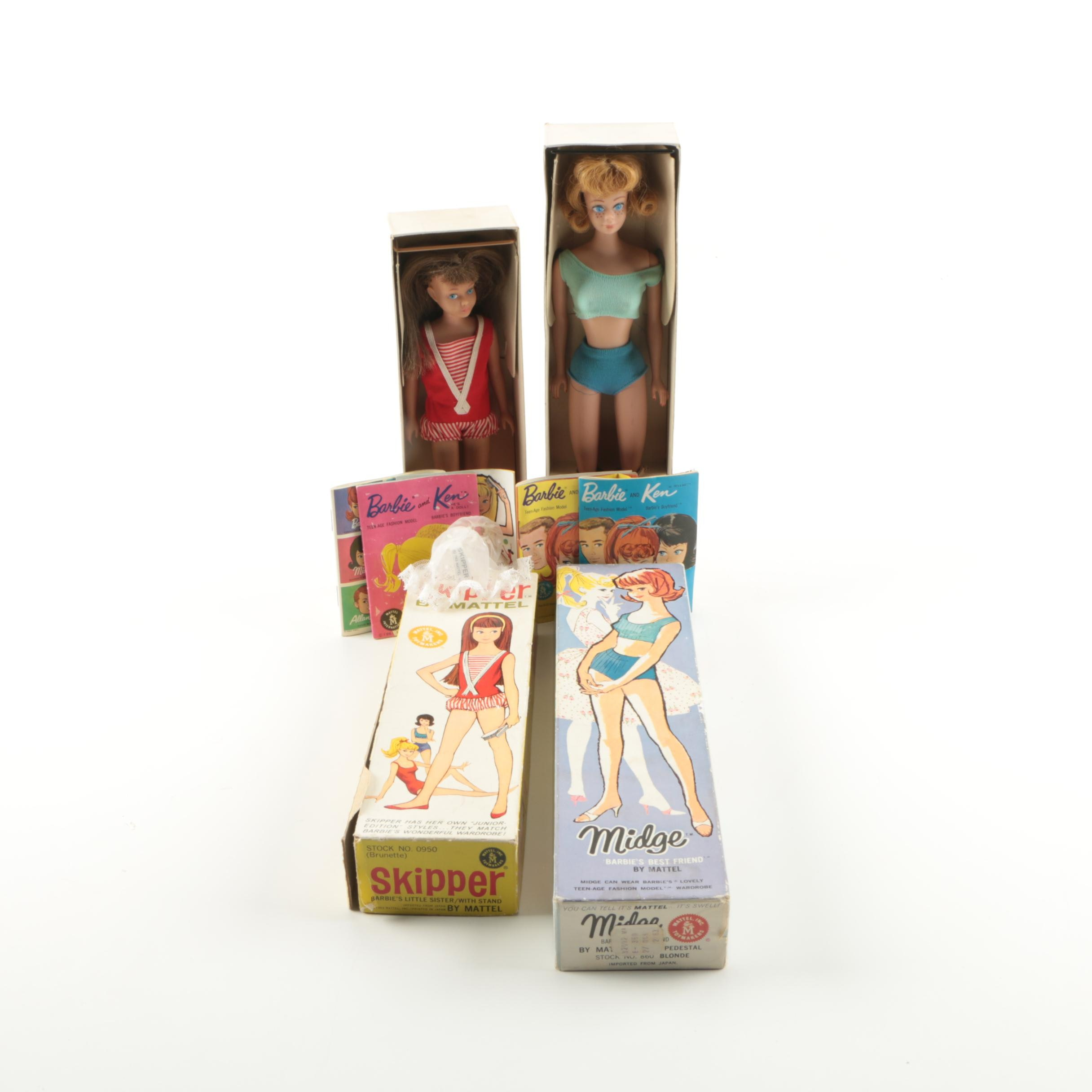 "1963 Mattel ""Midge"" and ""Skipper"" Dolls"