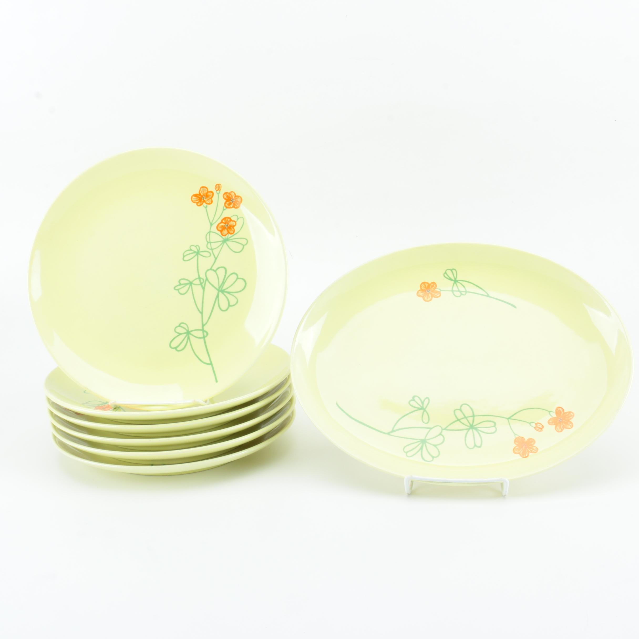 """Mid-Century Iroquois by Russel Wright """"Pepper Tree"""" Porcelain Plates"""