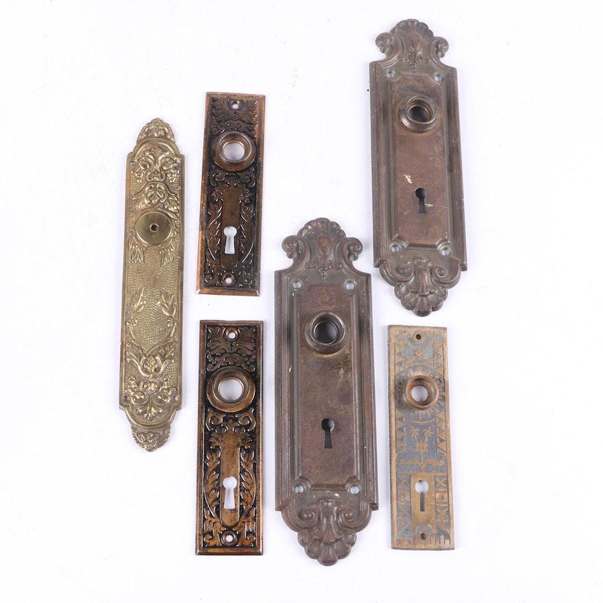 Vintage Brass Door Plates ... - Vintage Brass Door Plates : EBTH