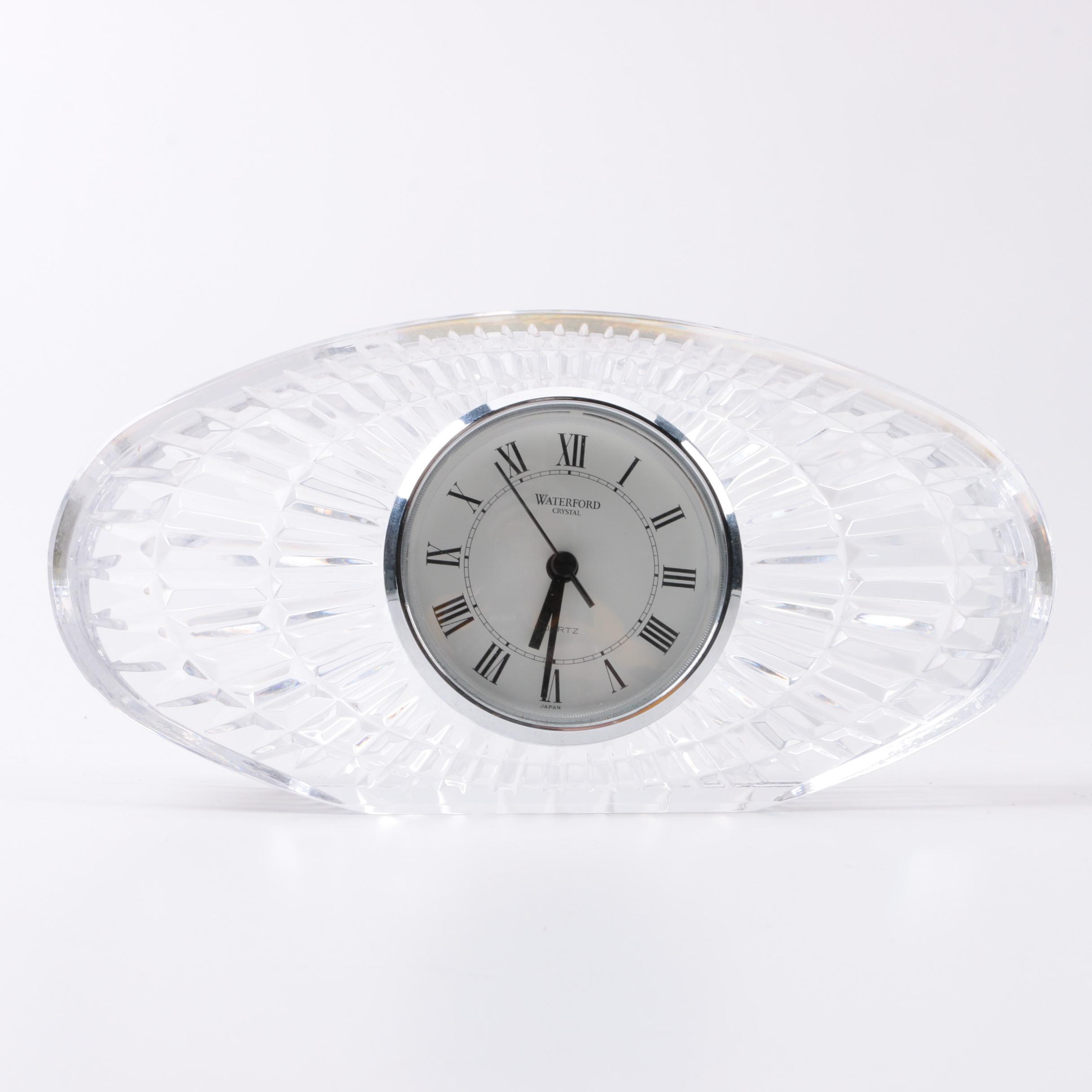 Waterford Crystal Oval Quartz Clock
