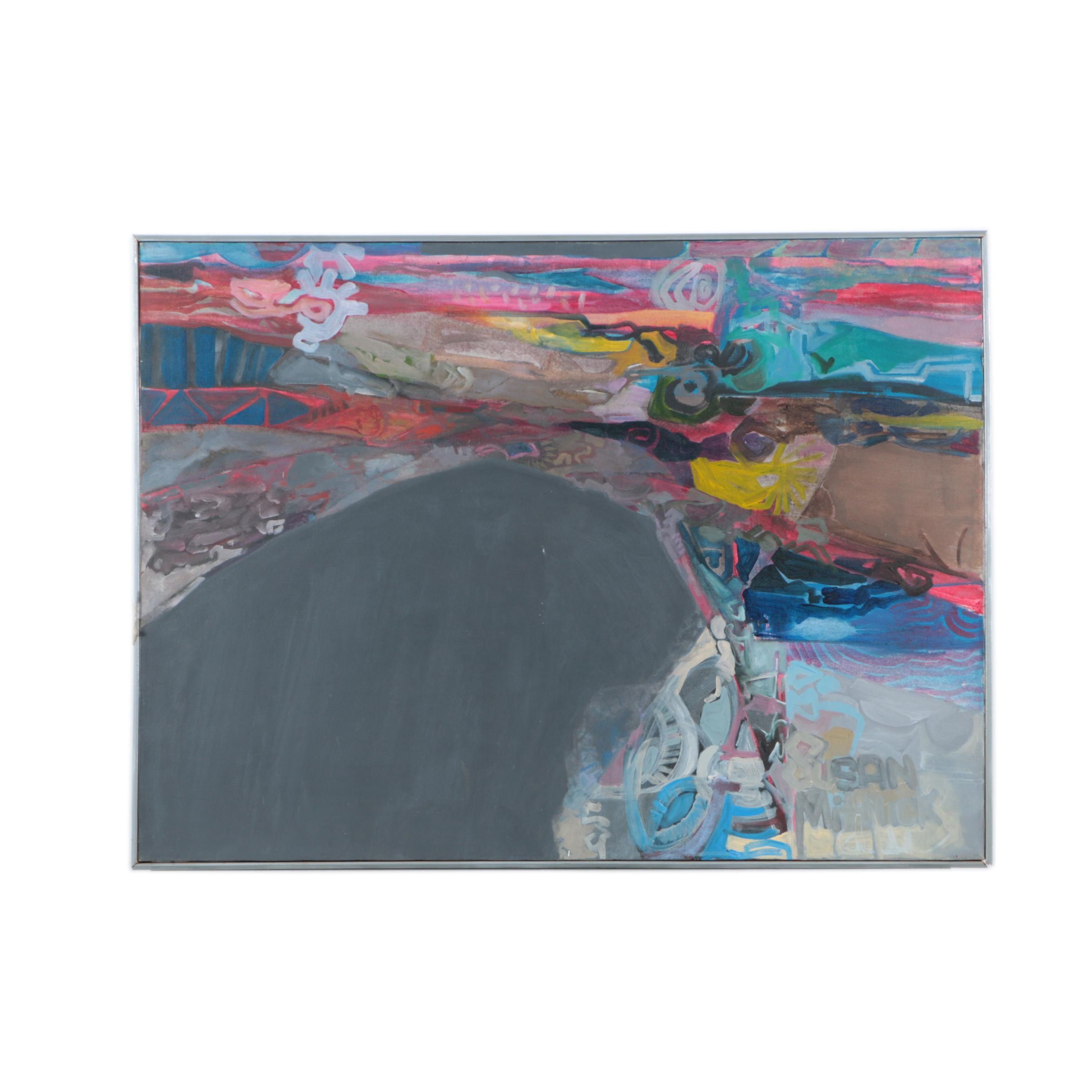 Susan Mitnick Abstract Acrylic Painting on Canvas