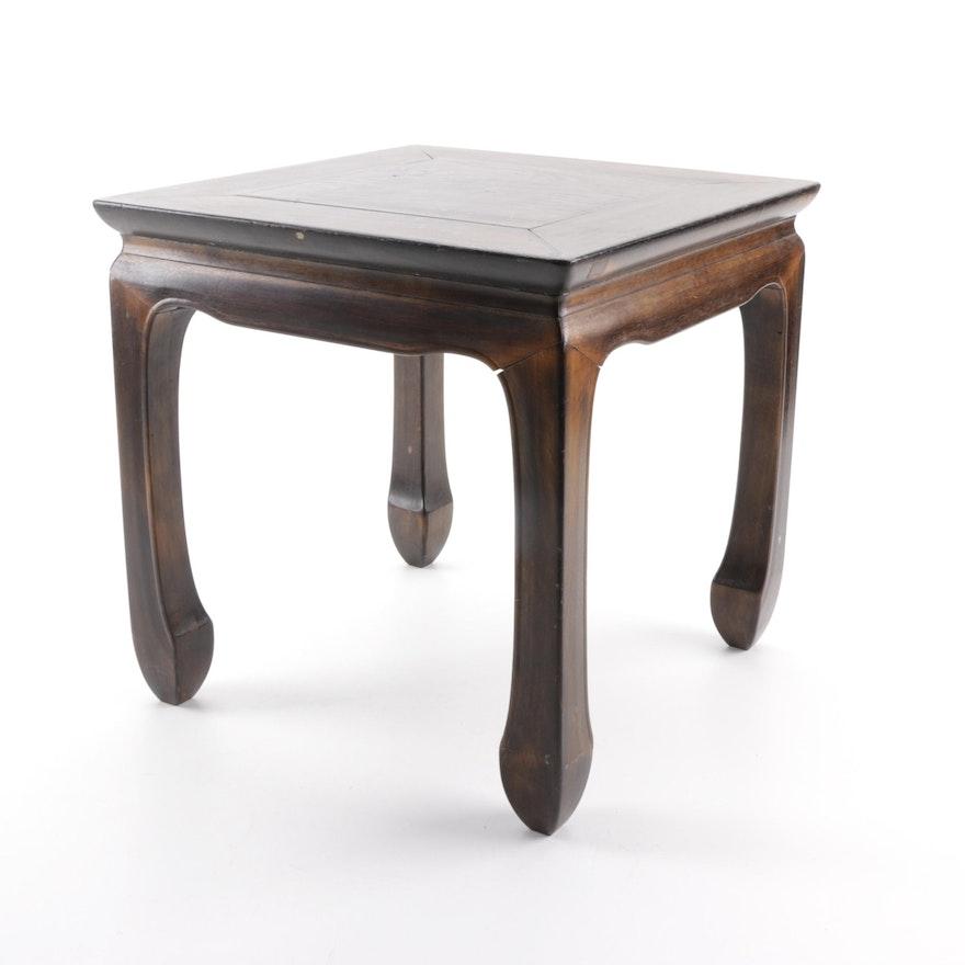 Japanese wooden foot stool ebth