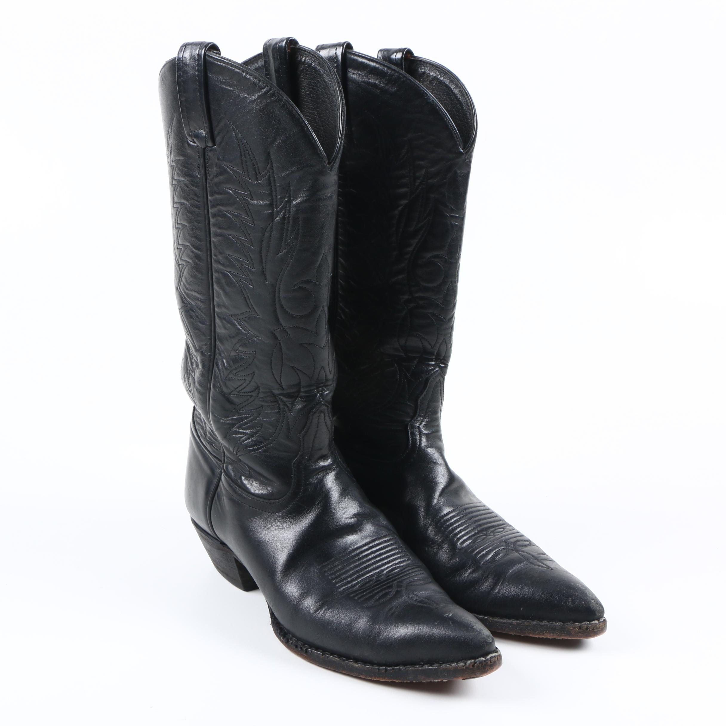 Women's Tony Lama Black Leather Boots