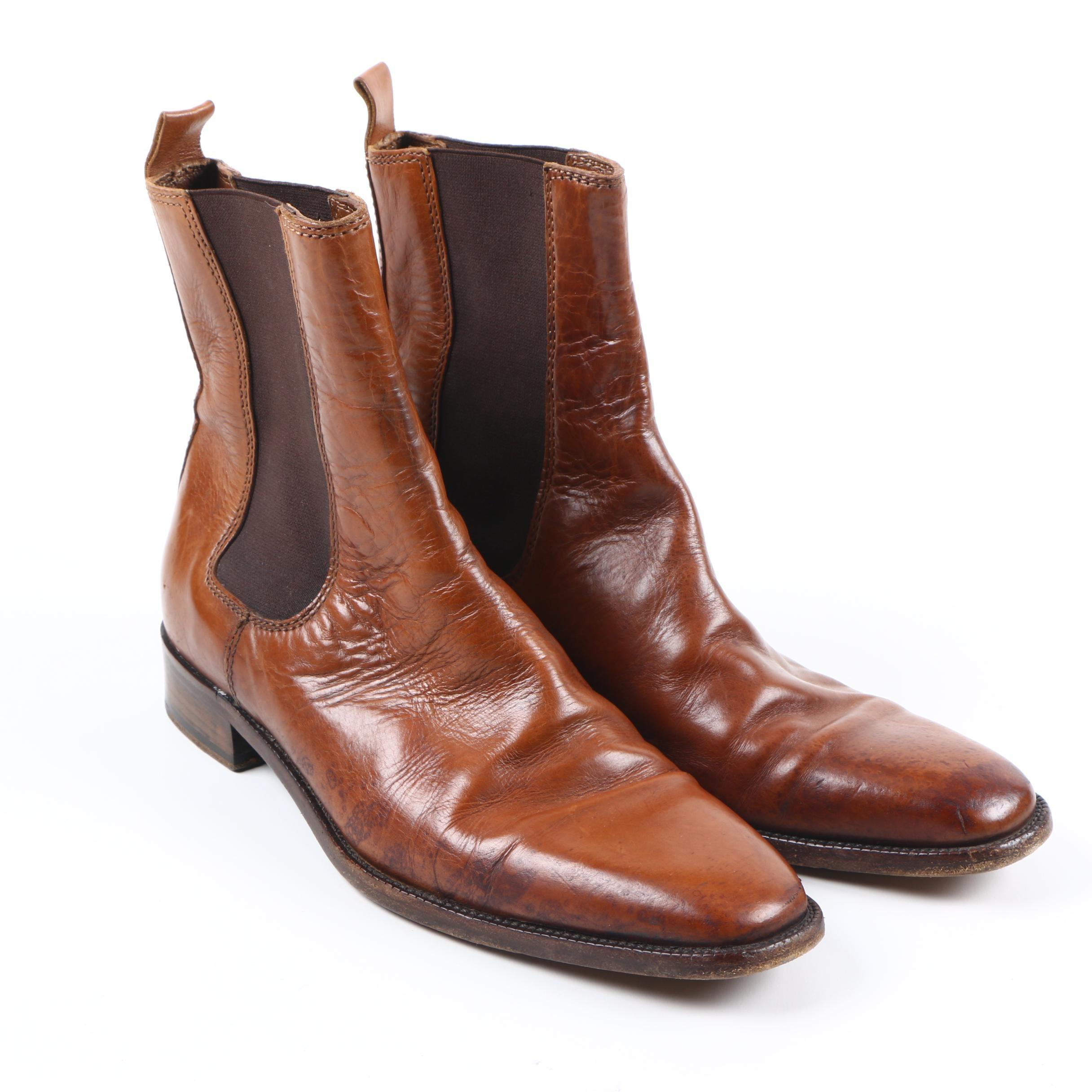 Ralph Lauren Brown Leather Boots