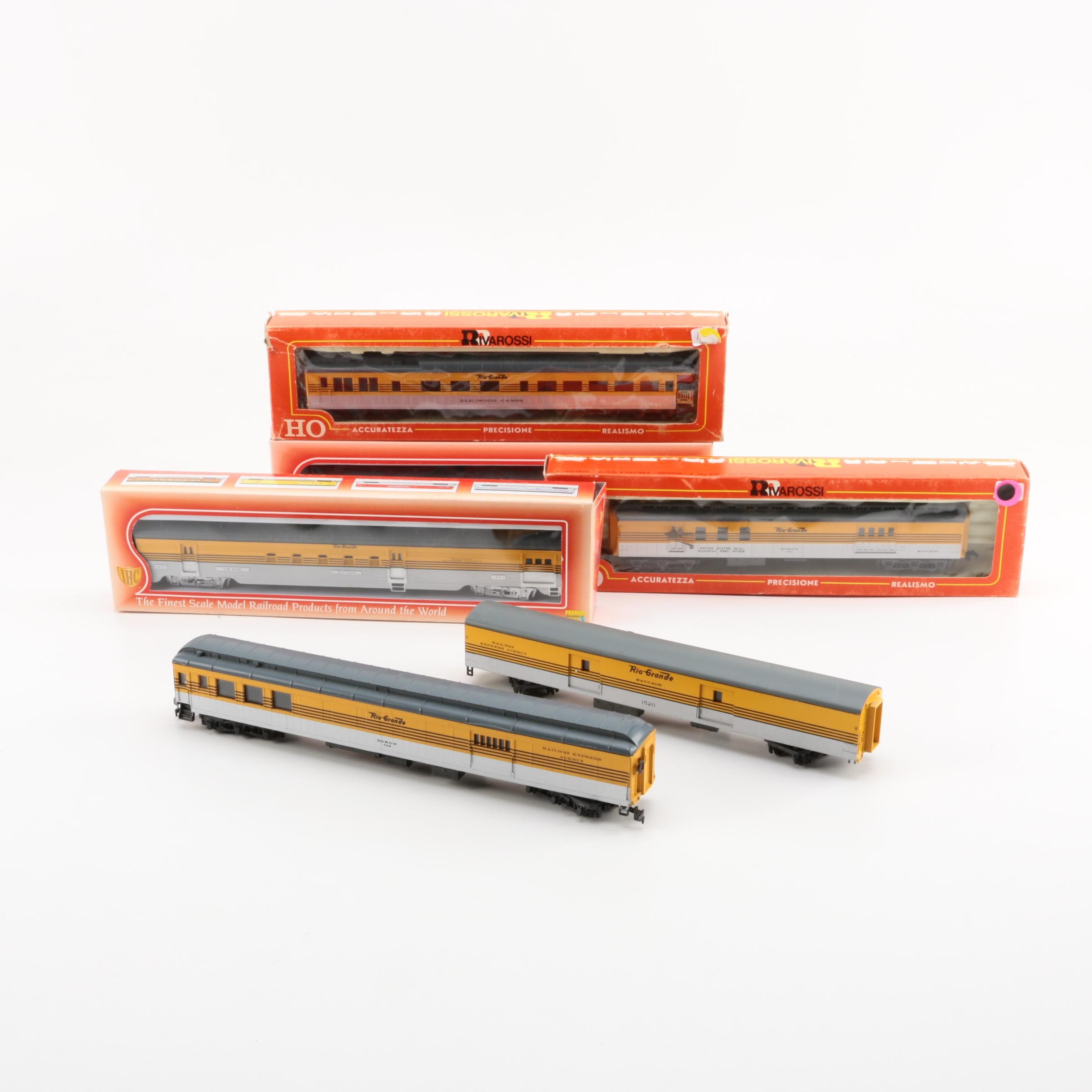 Rio Grande Passenger Train Cars by Rivarossi and IHC