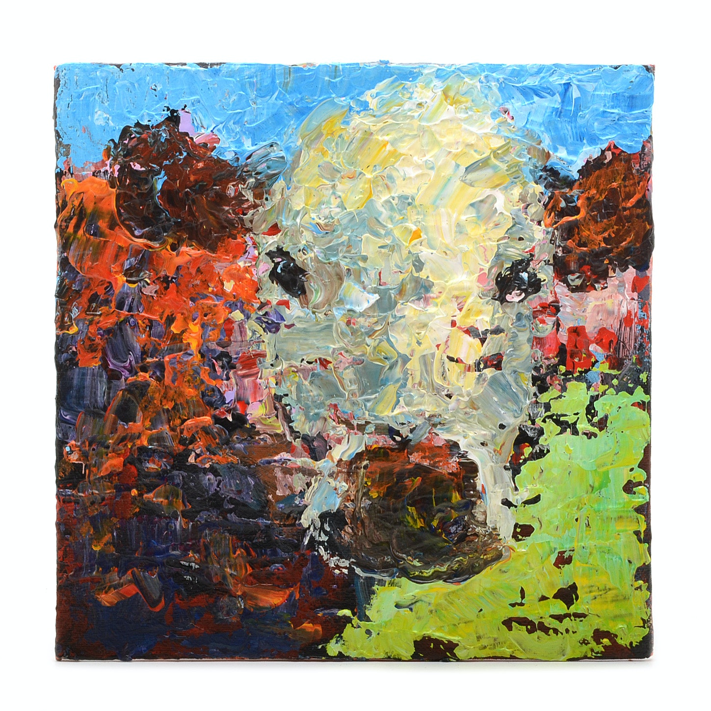 Elle Rains Original Acrylic Painting on Canvas Board of a Cow