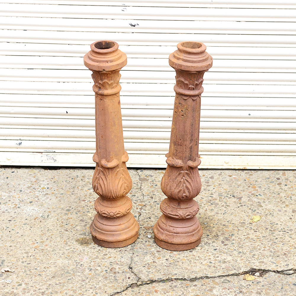 Pair of Victorian Style Iron Columns