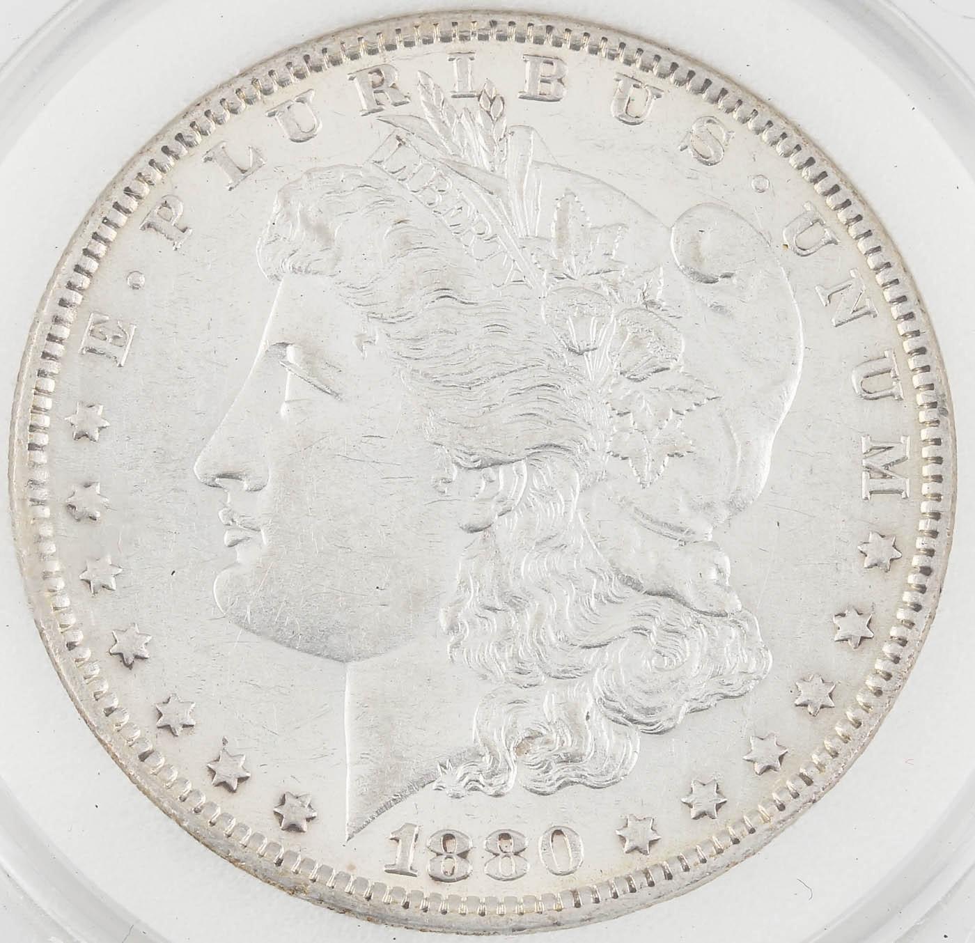 """1880 """"Micro O"""" Variety Silver Morgan Dollar"""