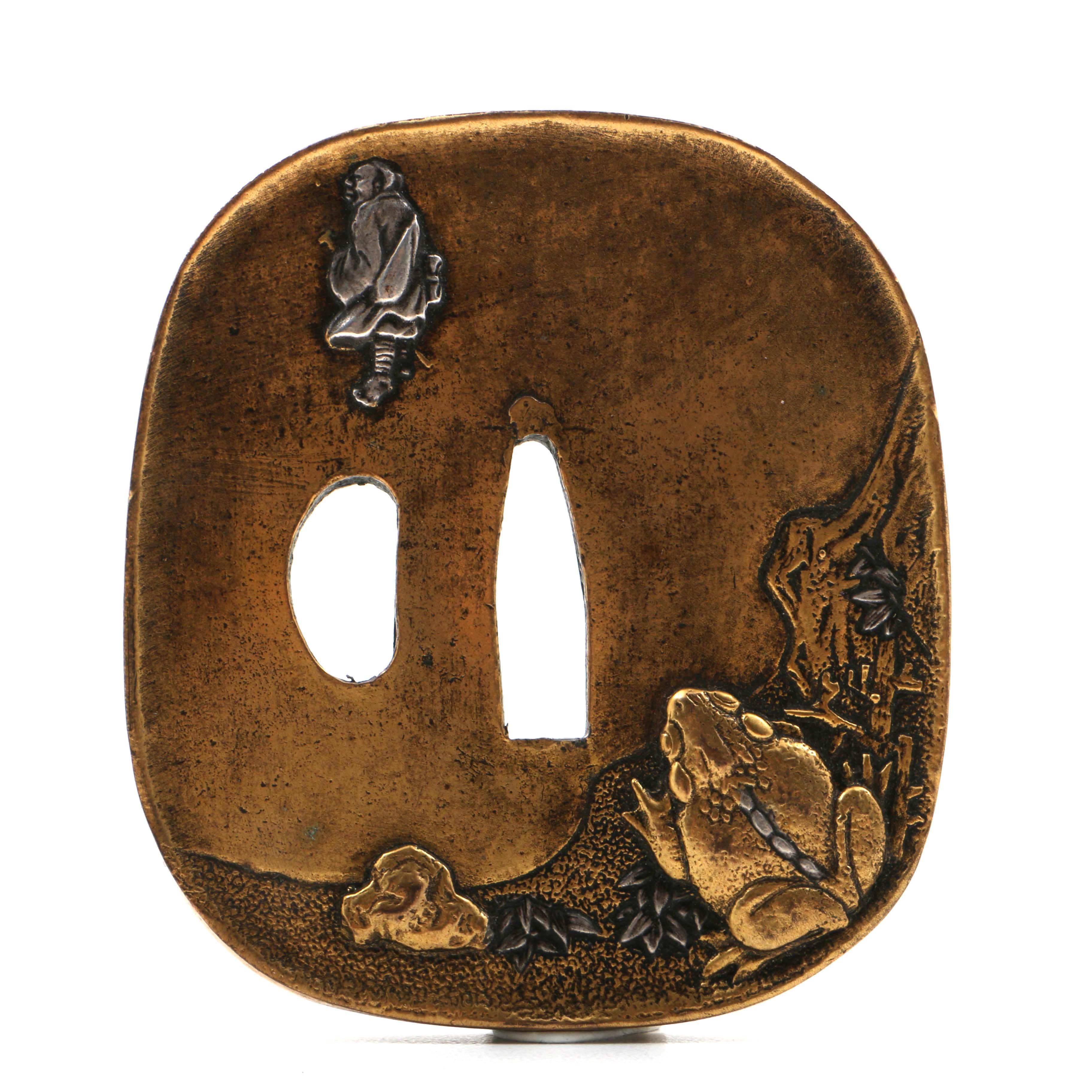 Japanese Gilt Bronze Tsuba