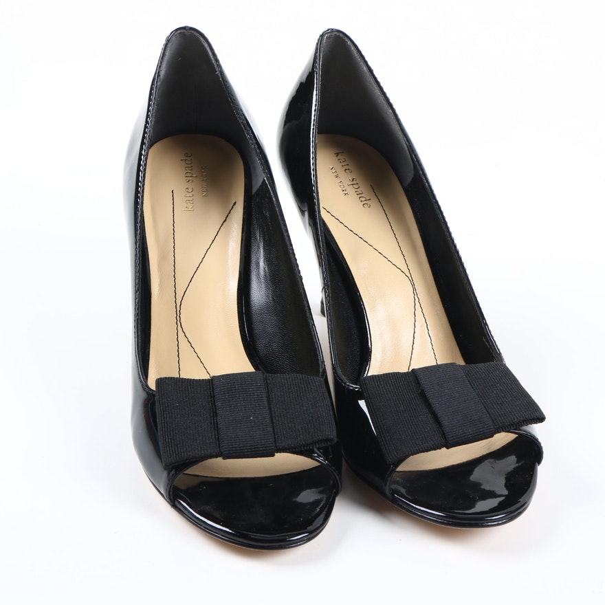 9a8dc3257709 Kate Spade New York Gena Too Black Patent Leather Pumps   EBTH