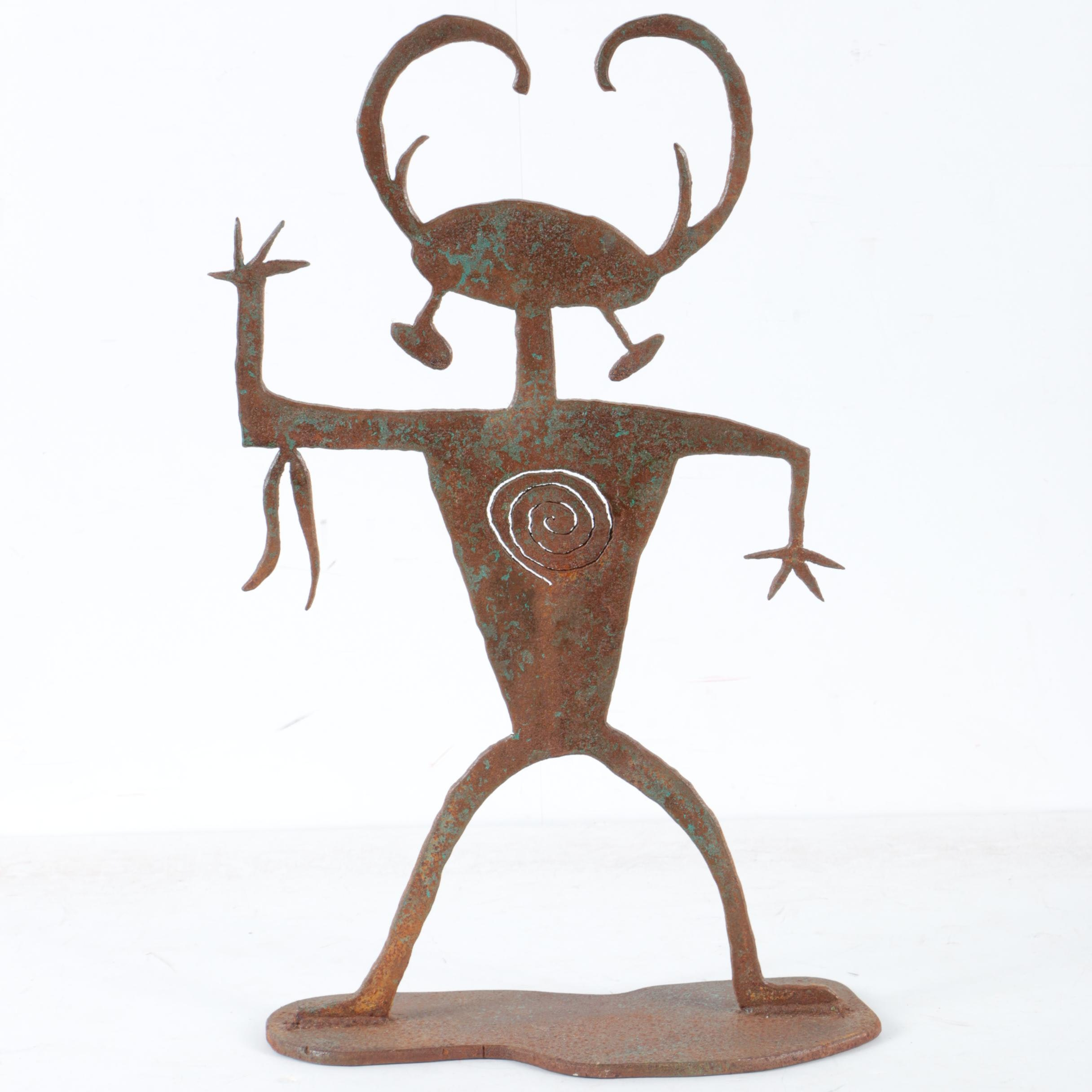 Iron Garden Sculpture Of Dancing Figure