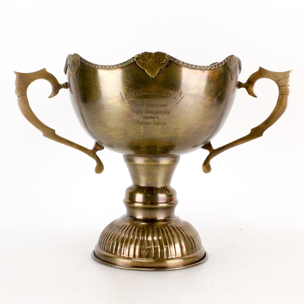 Lancaster University 1937 Rugby Championship Trophy
