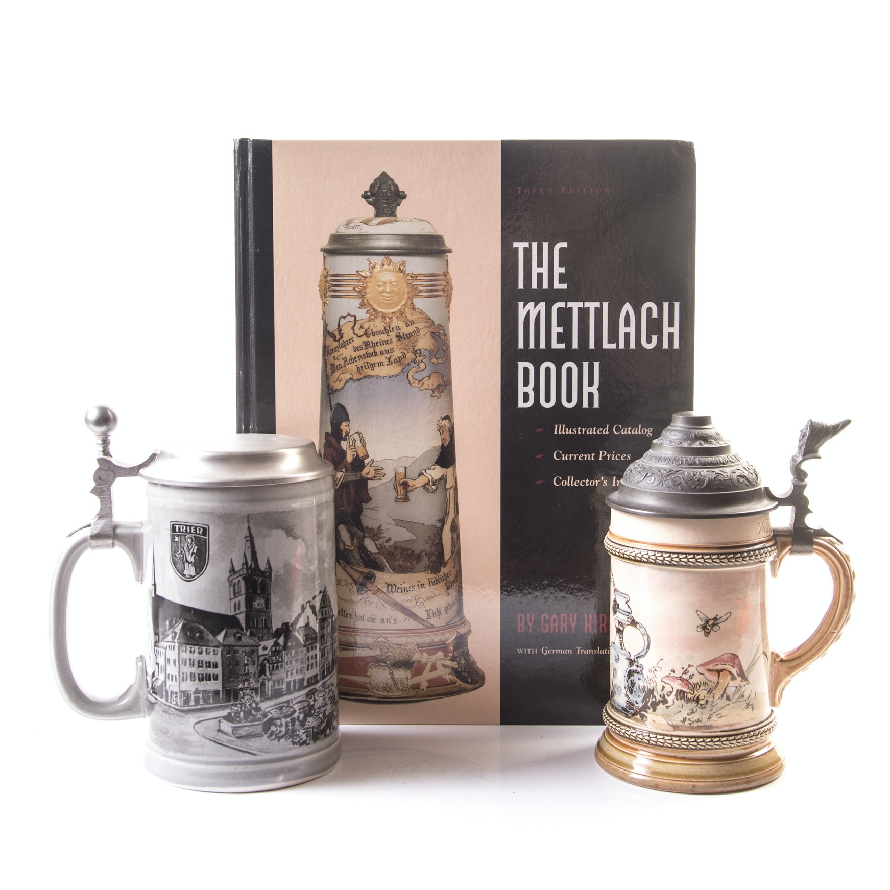Villeroy & Boch and Mettlach Beer Steins with Collector's Book