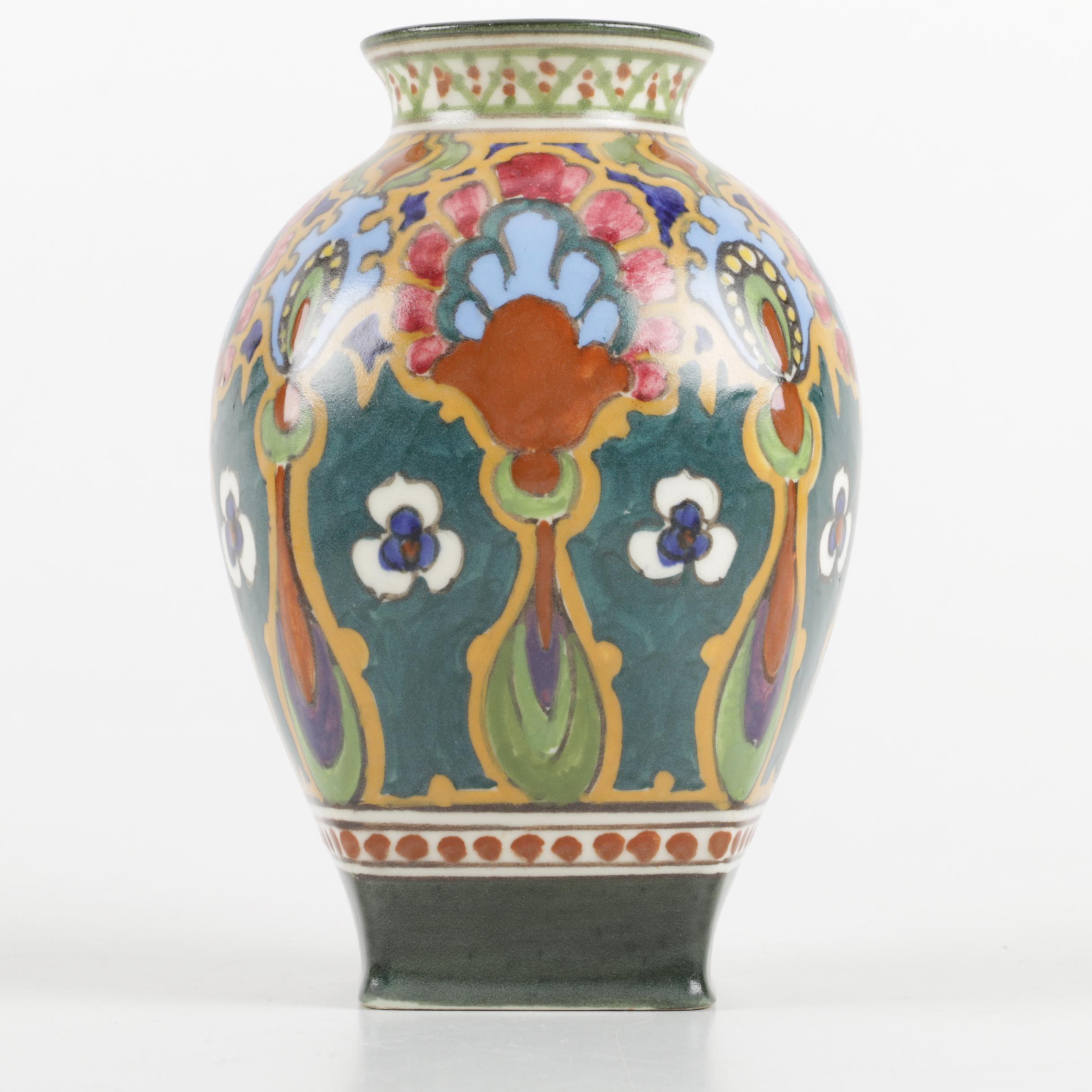 Vintage Ivora Gouda Hand-Painted Dutch Vase