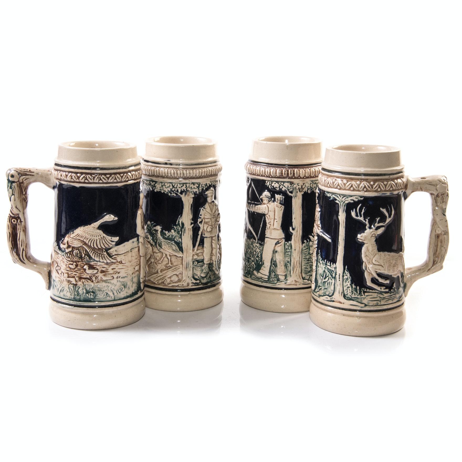 Vintage German Stoneware Beer Steins
