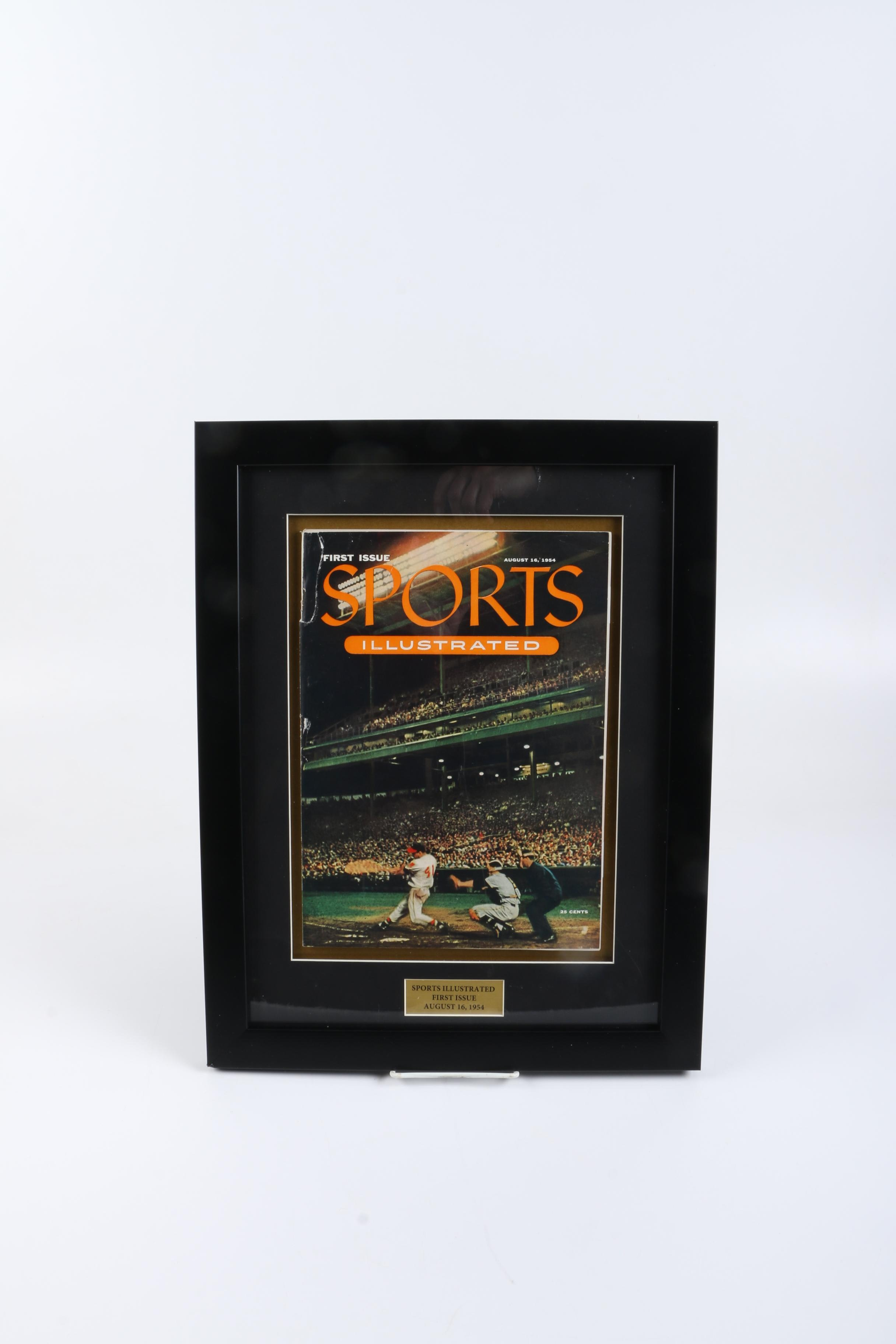 "1954 First Issue of ""Sports Illustrated"" Magazine Framed"