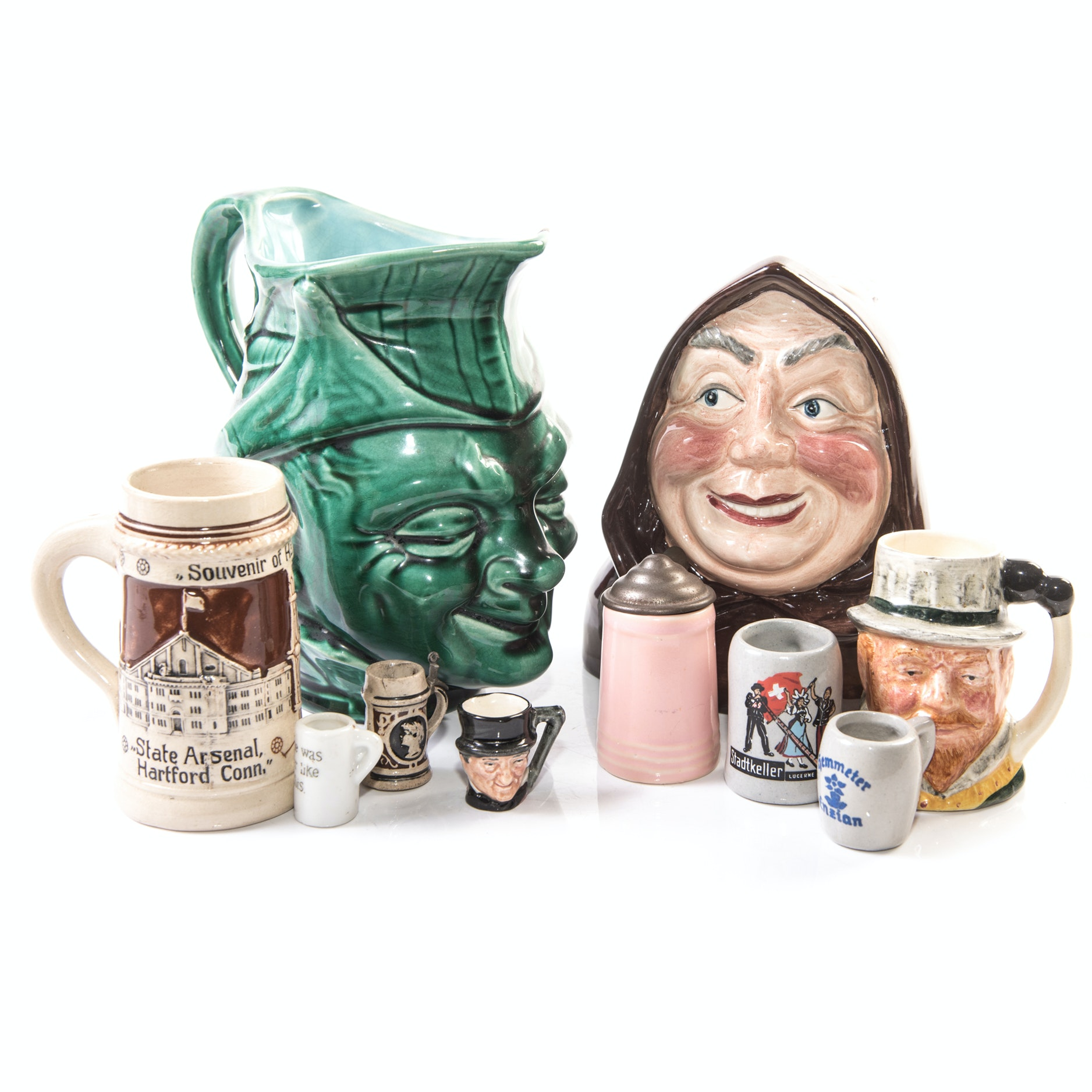 Vintage Character Mugs and Miniature Beer Steins