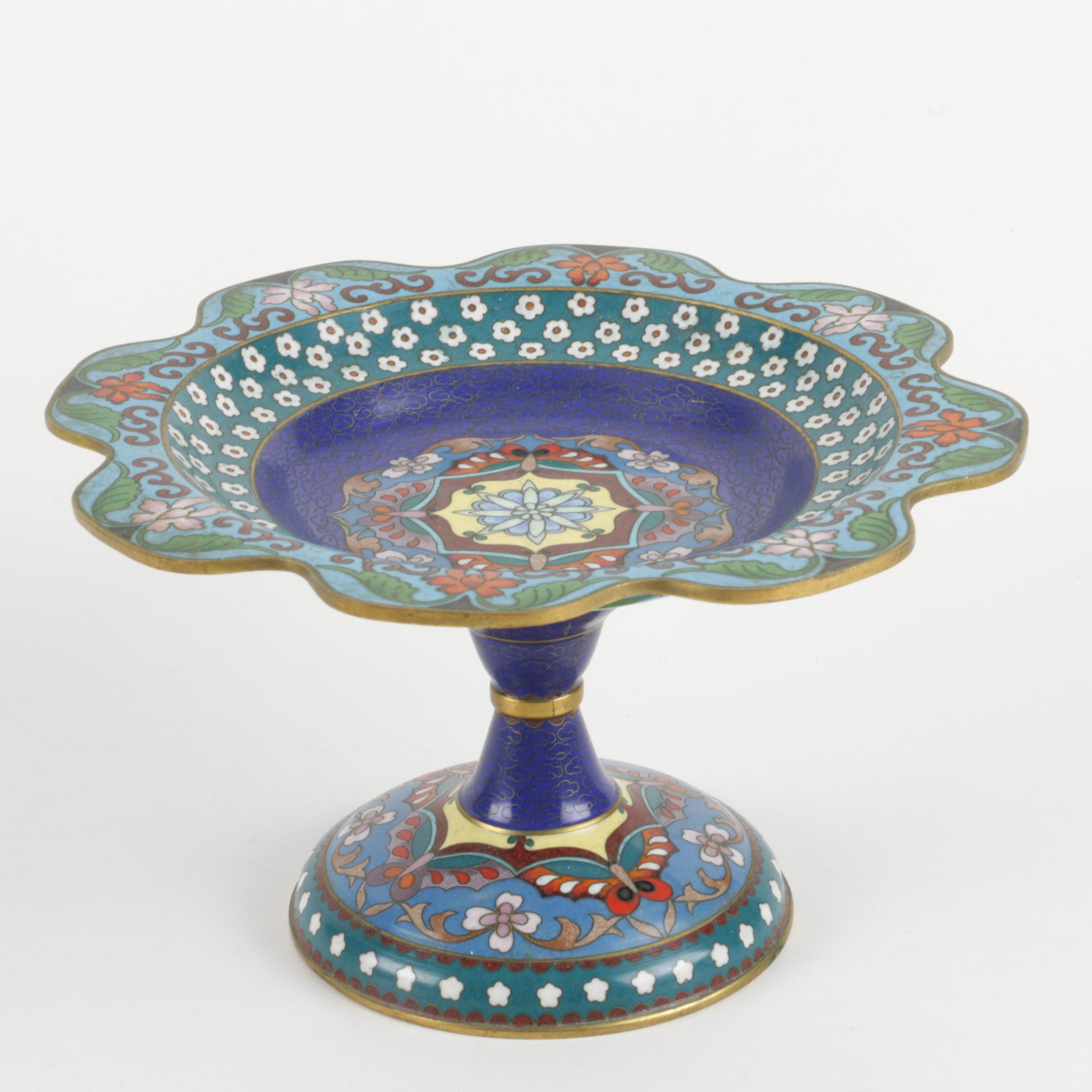 Fine Chinese Cloisonne Compote