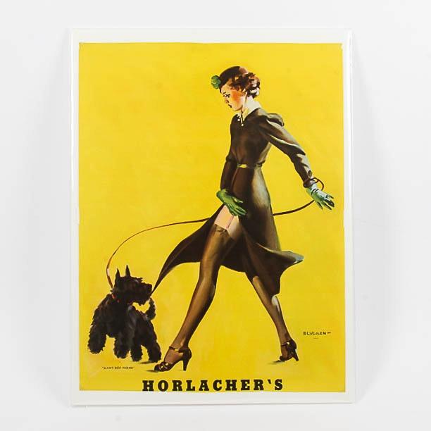 Vintage Horlacher's Advertising Print