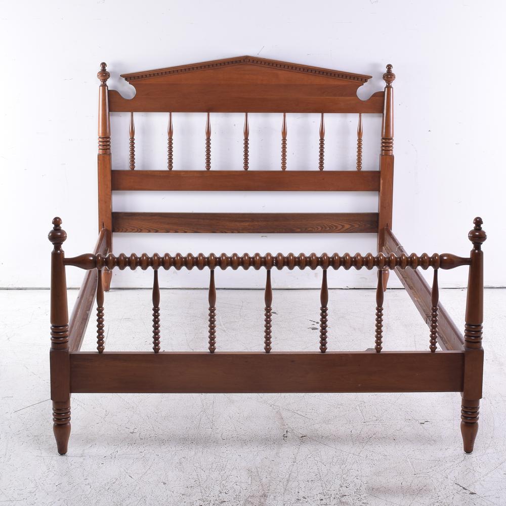 Full Size Cherry Spool Bed Frame by Davis CabiCompany : EBTH