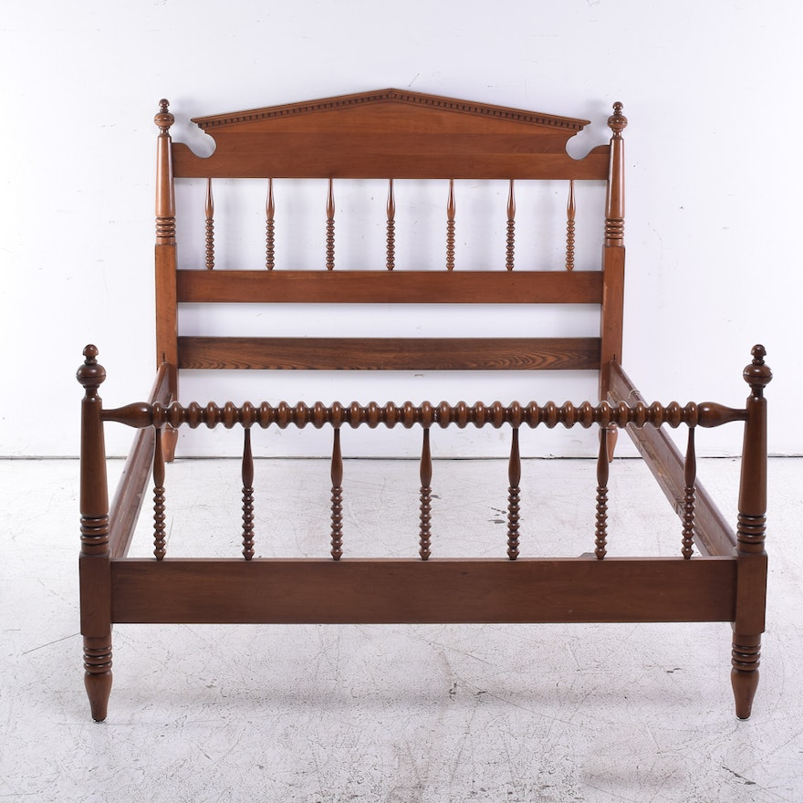 Full-Size Cherry Spool Bed Frame by Davis Cabinet Company : EBTH