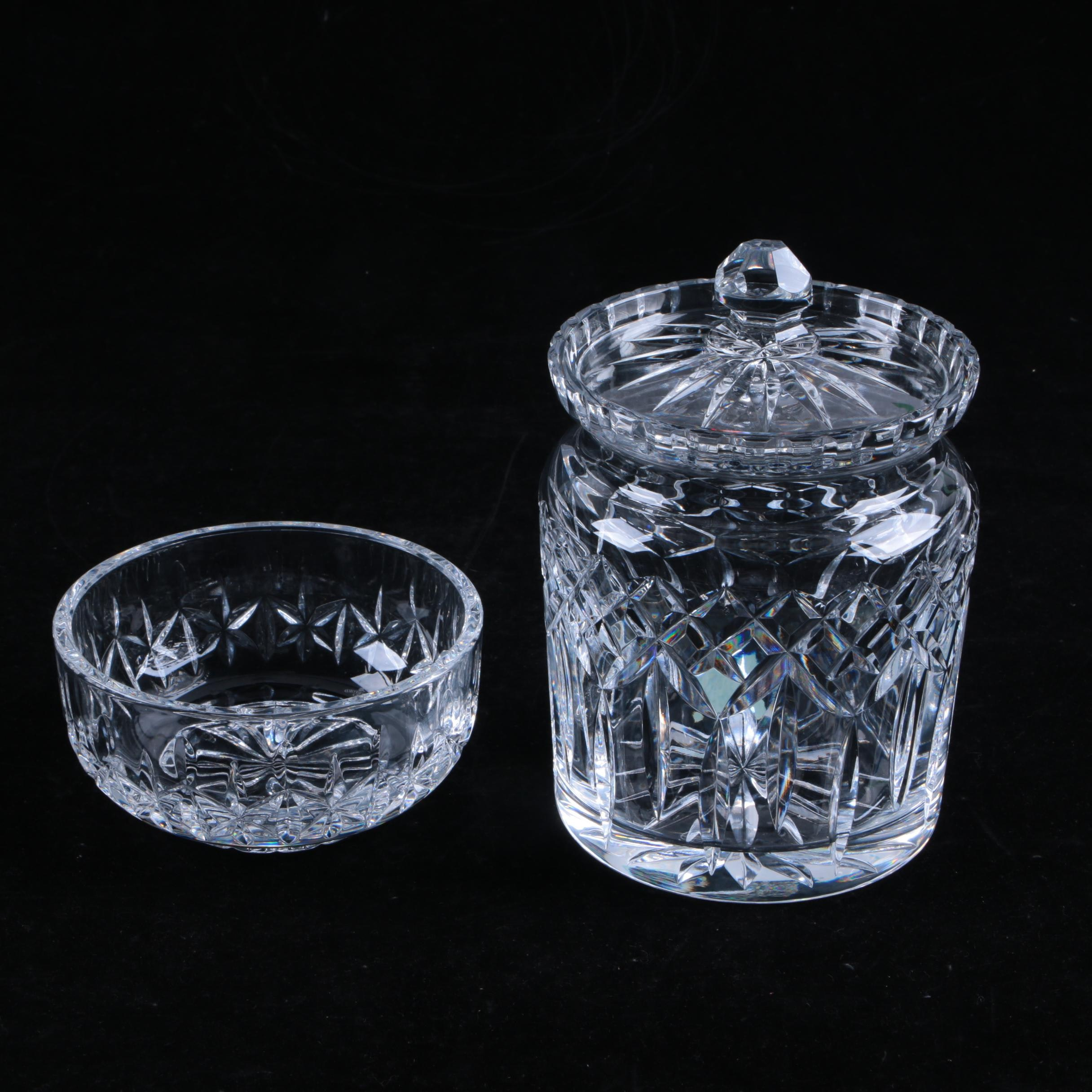 Waterford Crystal Dish and Jar
