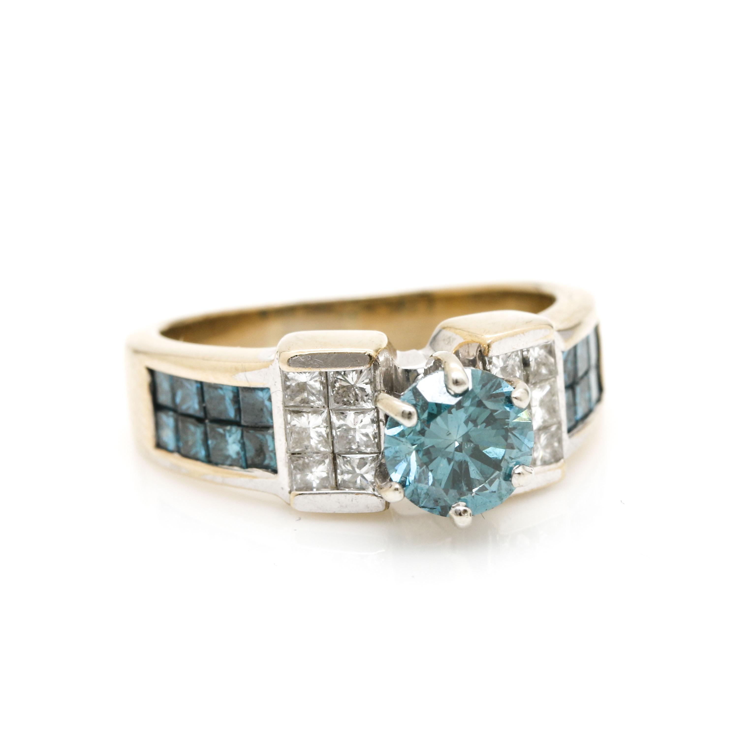 18K Yellow Gold 2.36 CTW Diamond Ring