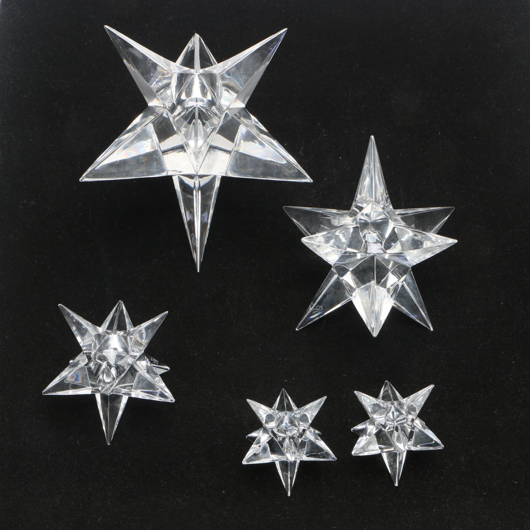 "Rosenthal ""Kosta Star"" Crystal Candle Holders"