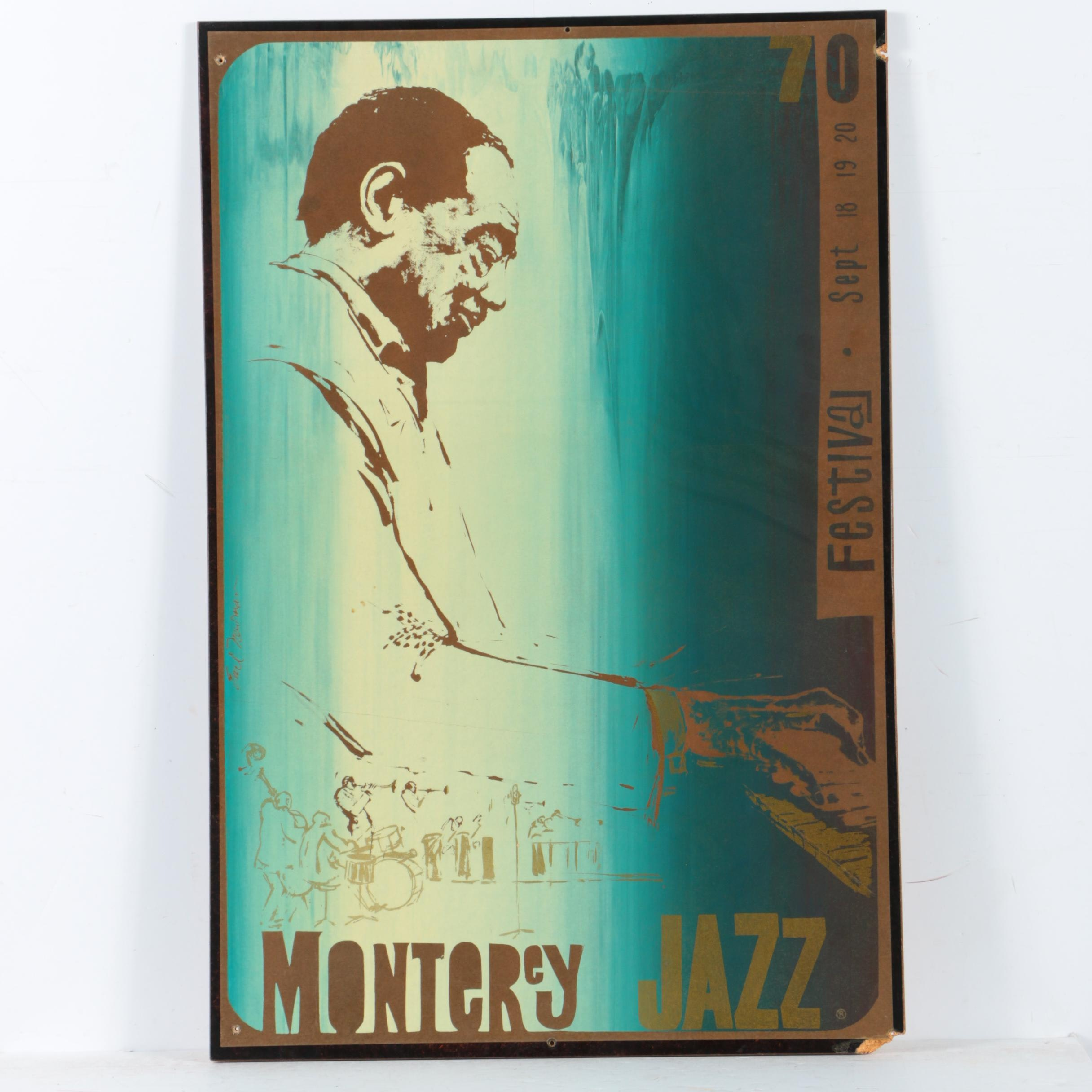 Earl Newman Serigraph Poster for the 1970 Monterey Jazz Festival
