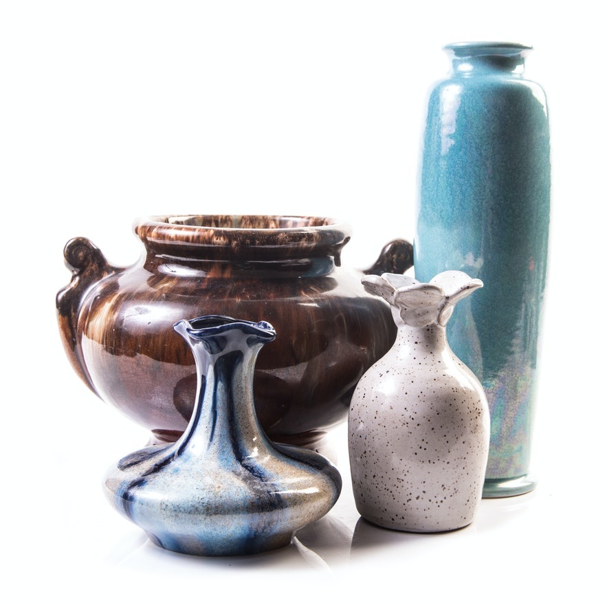 Eclectic Vases Featuring Ruskin Pottery And Faiencerie Thulin Ebth
