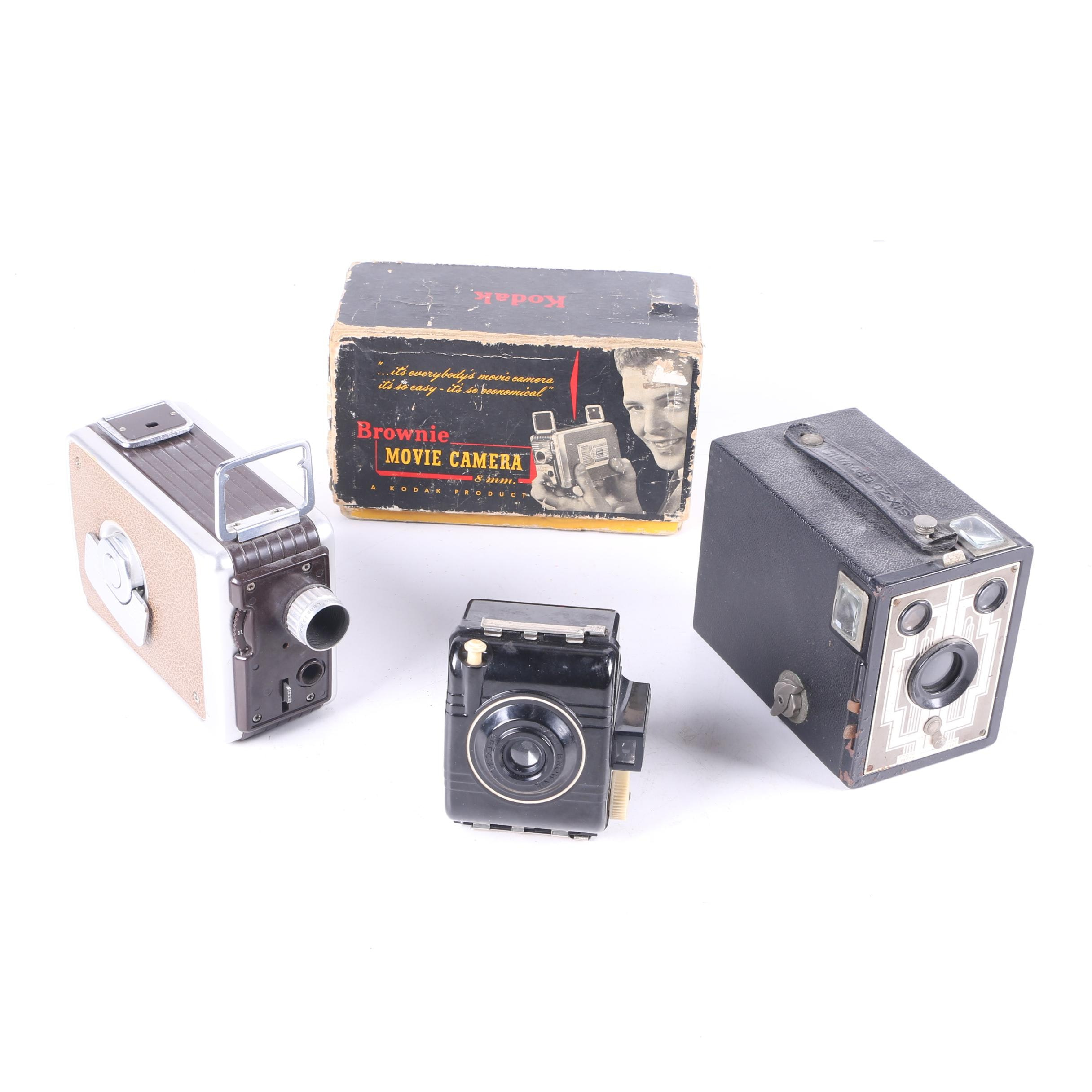 Collection of Vintage Brownie Cameras