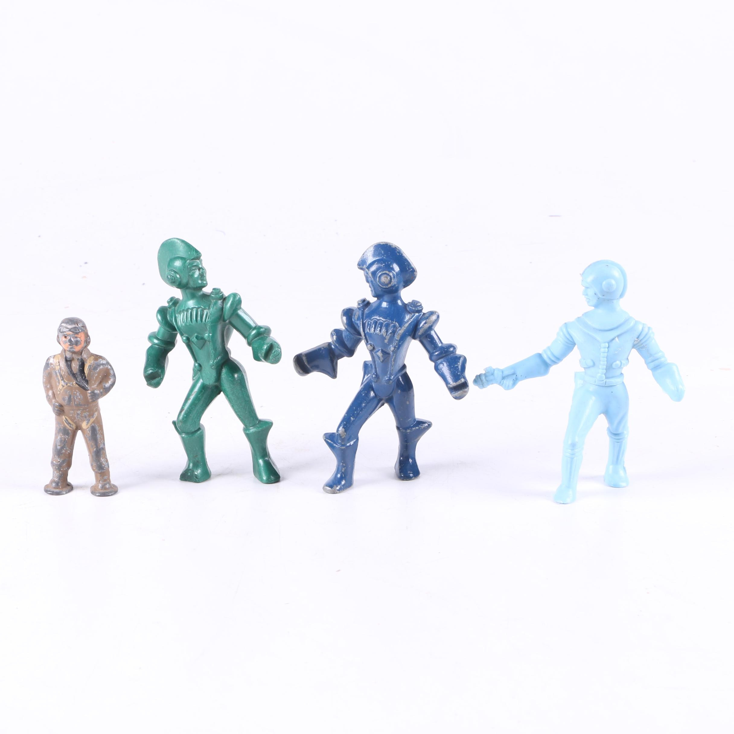 Collection of Vintage Toy Space and Military Figures
