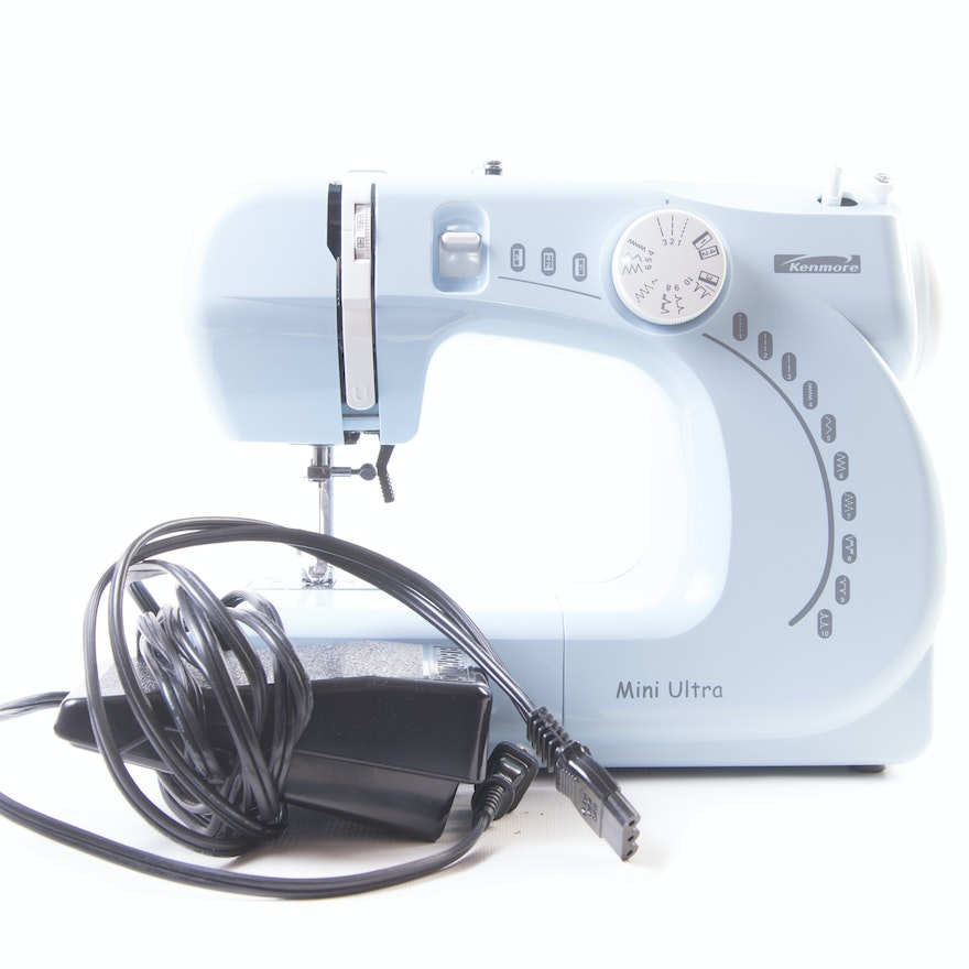 Kenmore Mini Ultra Sewing Machine EBTH Amazing Blue Kenmore Sewing Machine