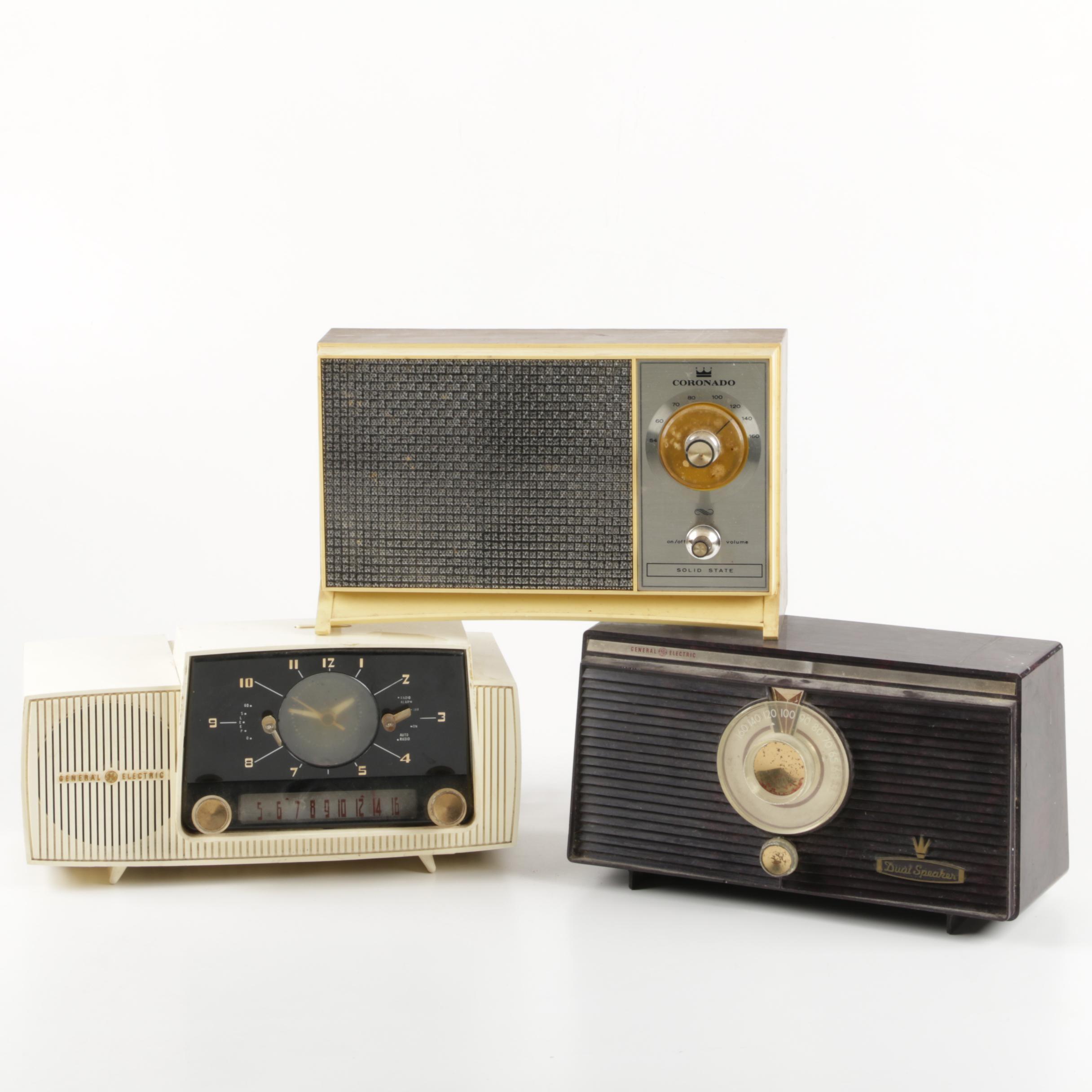 Vintage Radios including a Coronado Transistor Radio