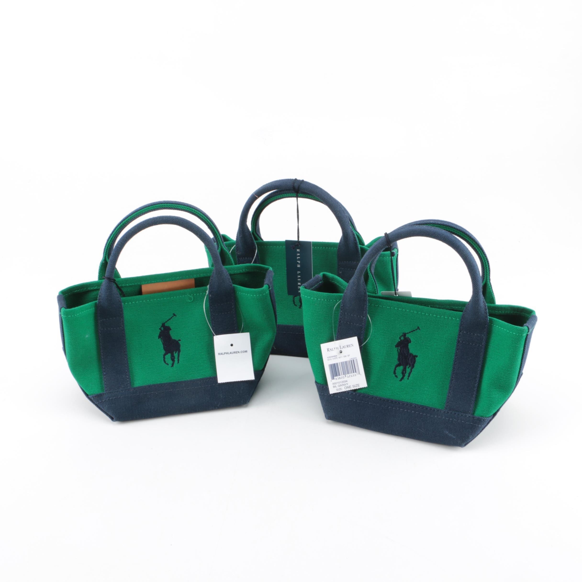Ralph Lauren Mini Canvas Tote Bags
