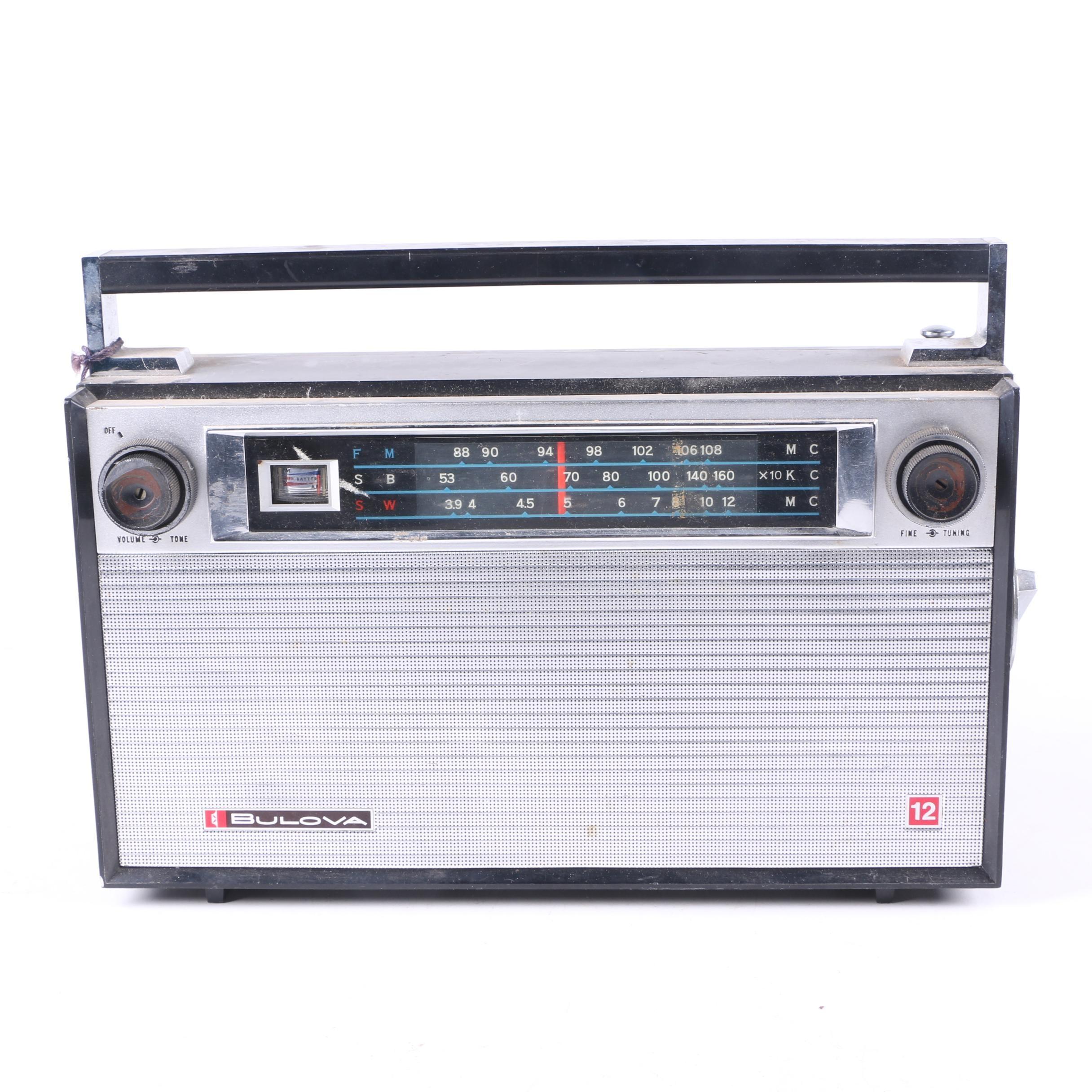 Vintage Bulova Twelve Transistor Radio
